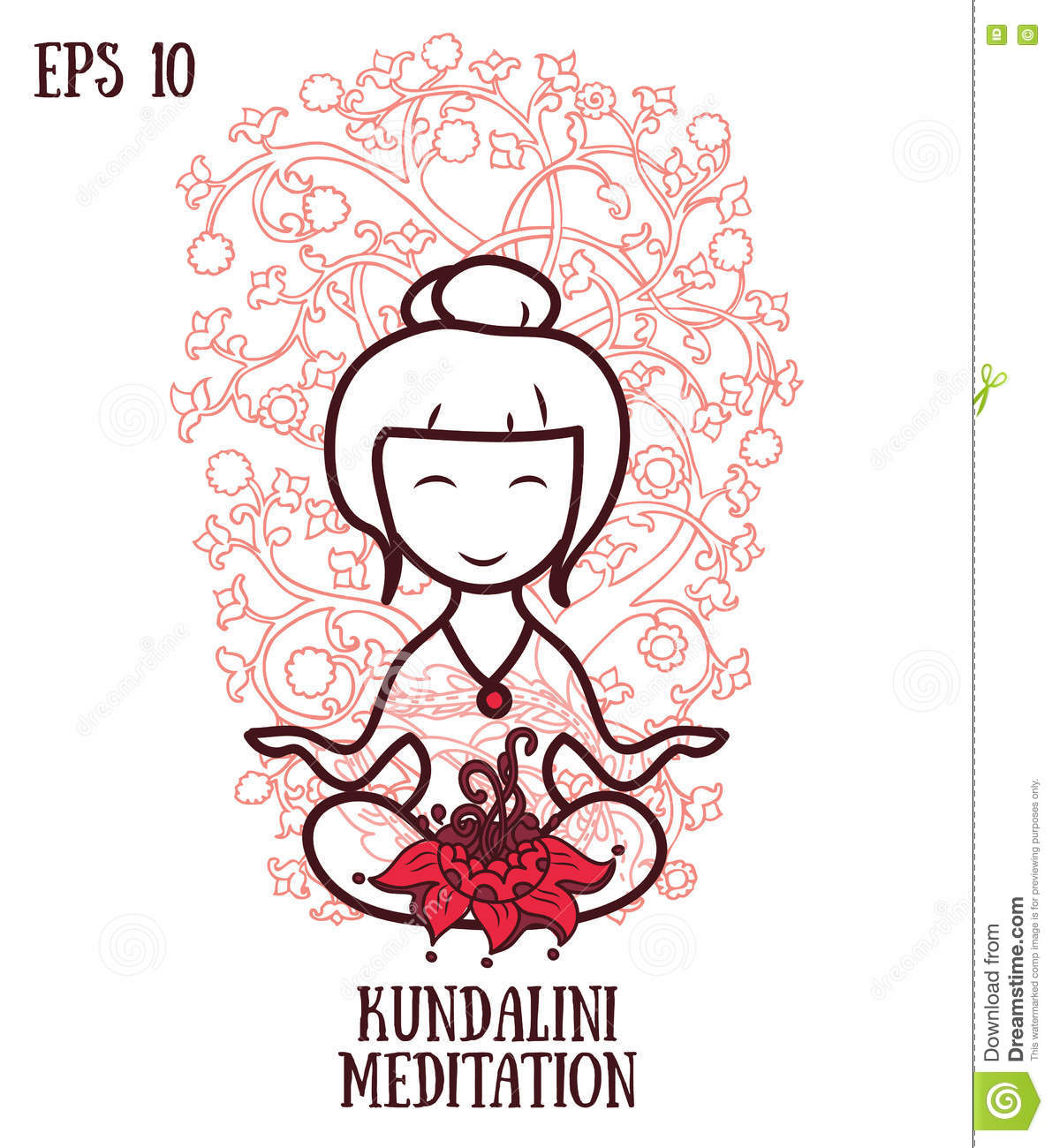 Template for kundalini yoga studio business card stock vector royalty free vector magicingreecefo Images