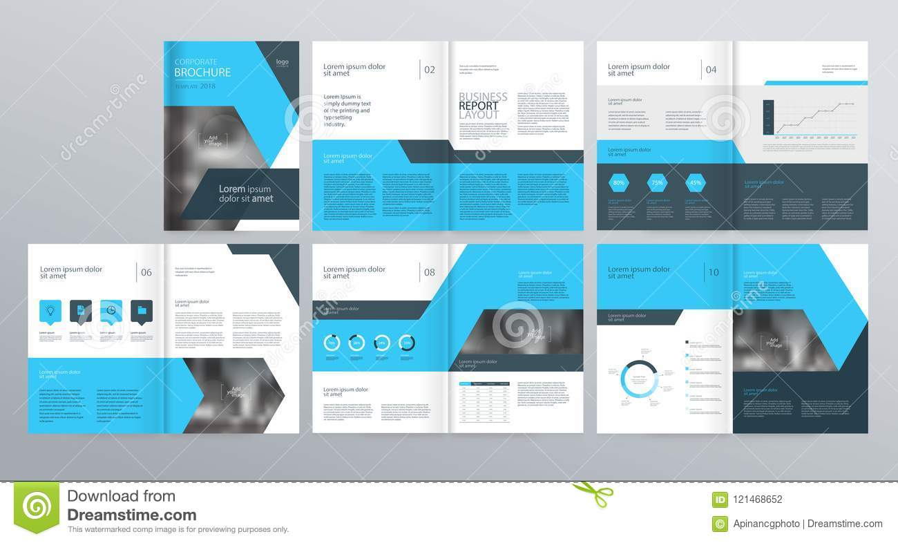 template layout design with cover page for company profile annual