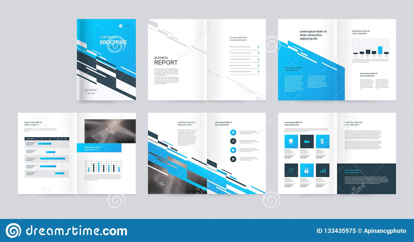 Template Layout Design With Cover Page For Company Profile Annual Report Brochures Proposal Flyers Leaflet Magazine Book Co Stock Vector Illustration Of Data Brochure 133435975