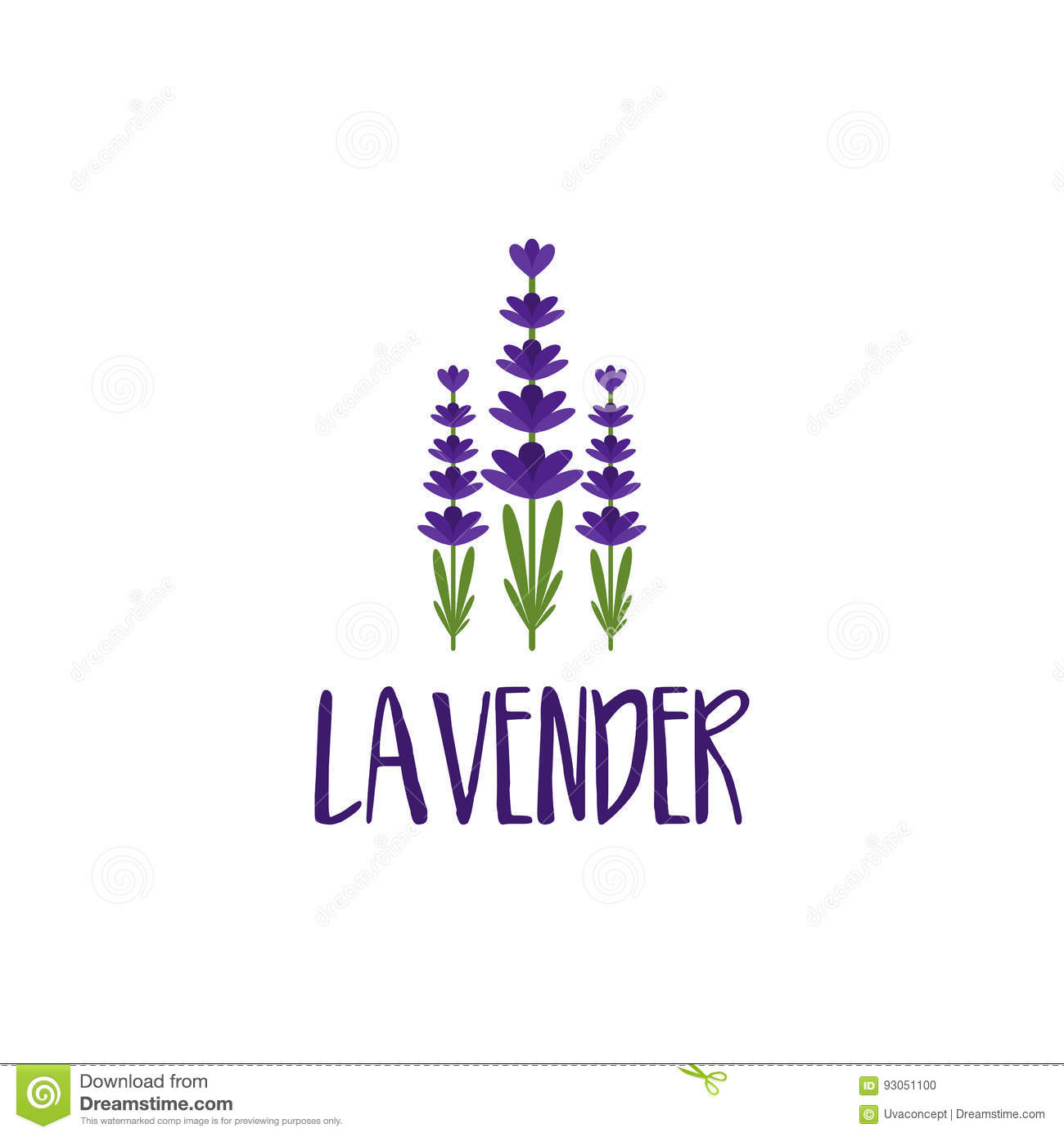 Template Logo Design Of Abstract Icon Lavender. Stock Vector ... for Logo Design Samples Free Download  45gtk