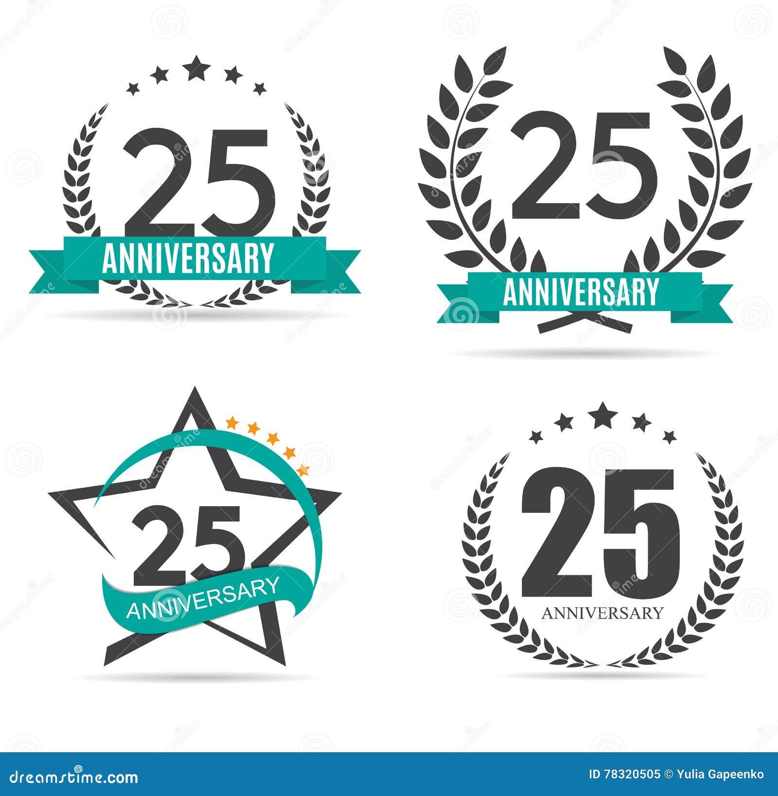 template logo 25 years anniversary vector illustration stock vector