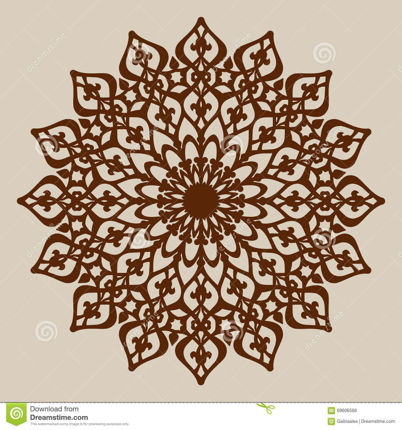 laser engraver templates the template mandala pattern for decorative rosette stock