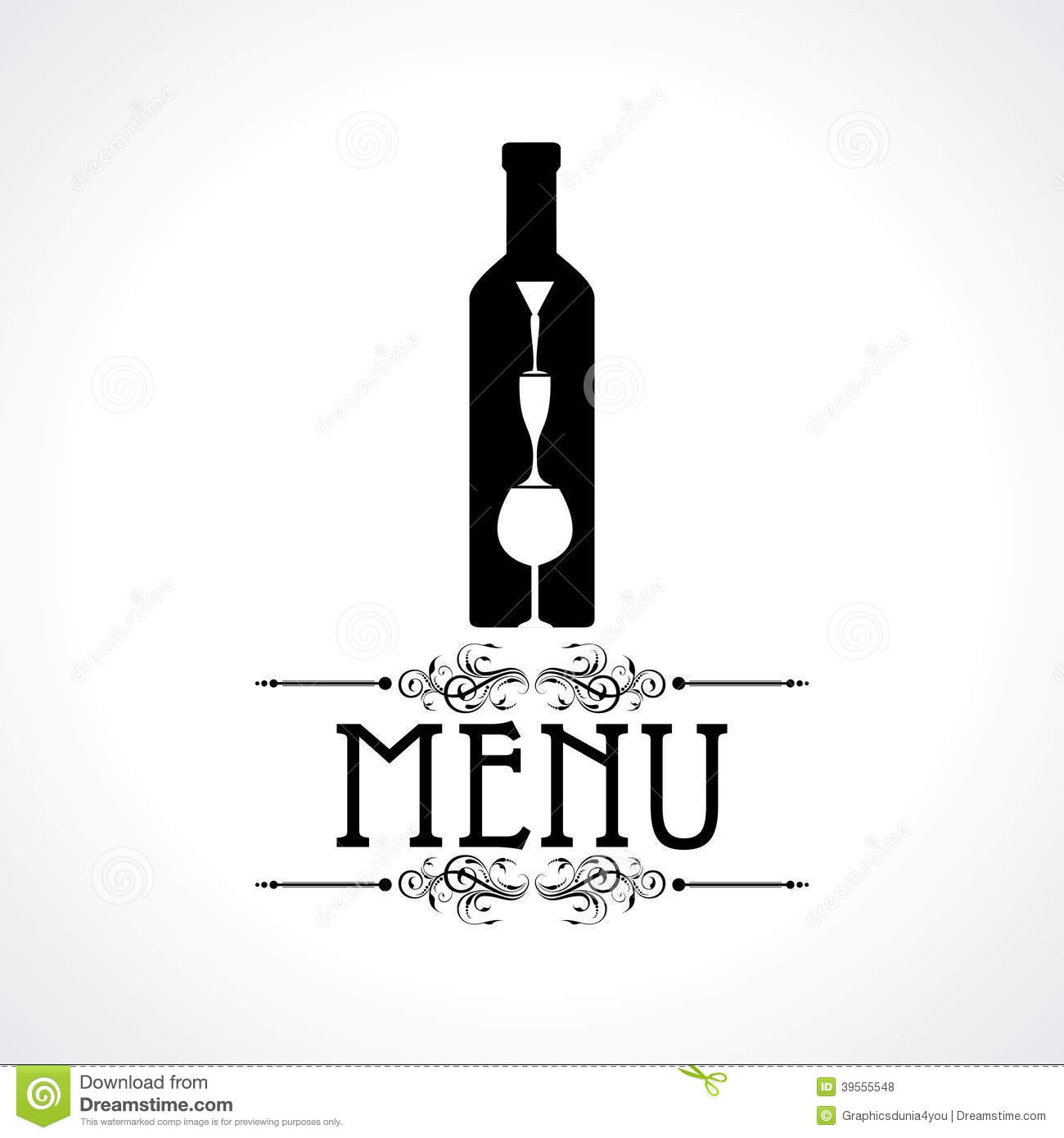 Template For Menu Card With Cutlery Stock Vector - Image: 39555548