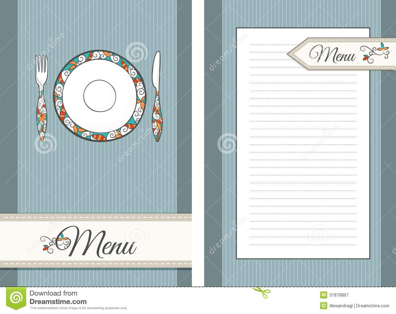 Template For Menu Stock Vector Illustration Of Color 31878897