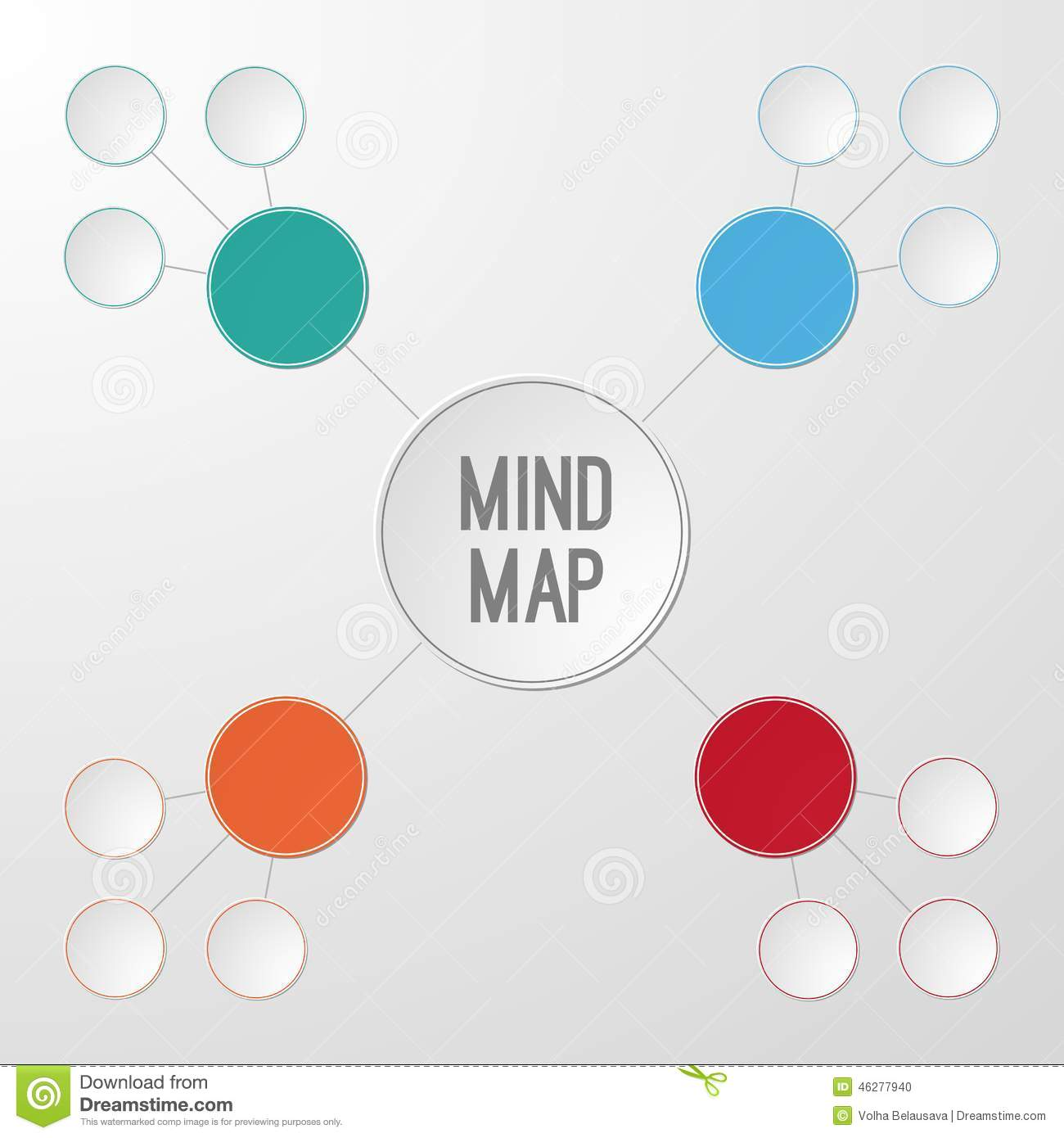 template of mind map infographic stock vector illustration of diagram effect 46277940. Black Bedroom Furniture Sets. Home Design Ideas