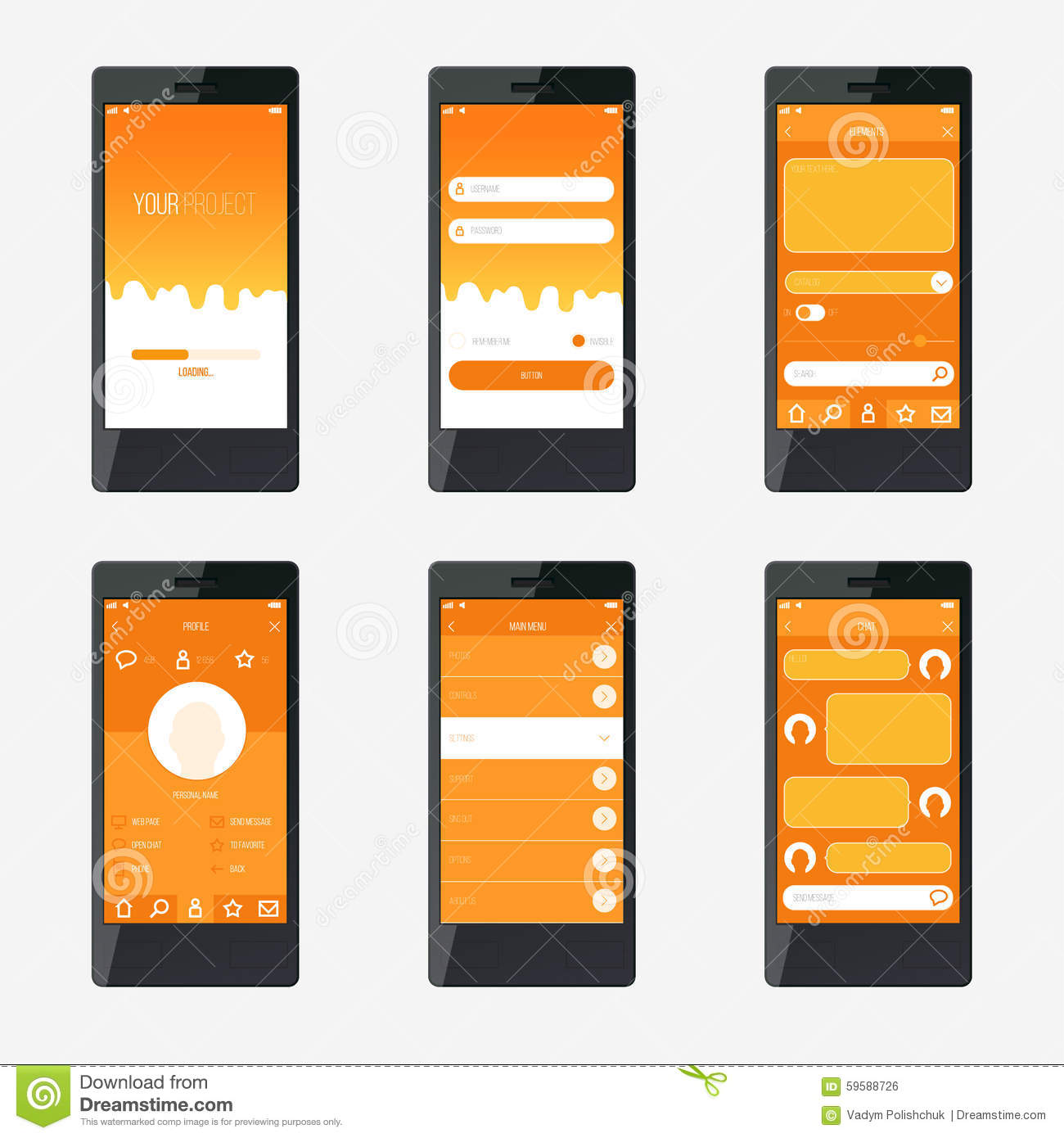 ... mobile application interface design. For website and mobile app
