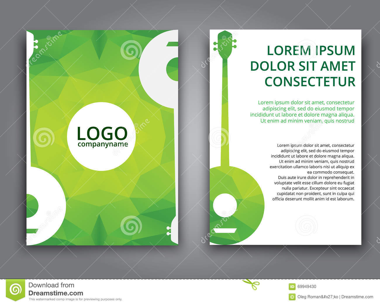 Template Music Polygonal Brochure Vector Image 69949430 – Music Brochure