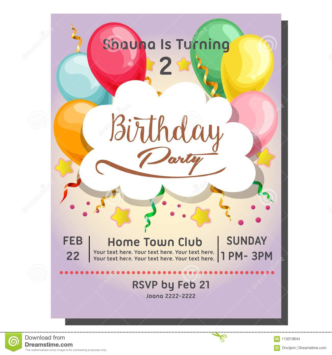 2nd birthday party invitation card with berry cupcake stock vector download 2nd birthday party invitation card with berry cupcake stock vector illustration of celebration filmwisefo