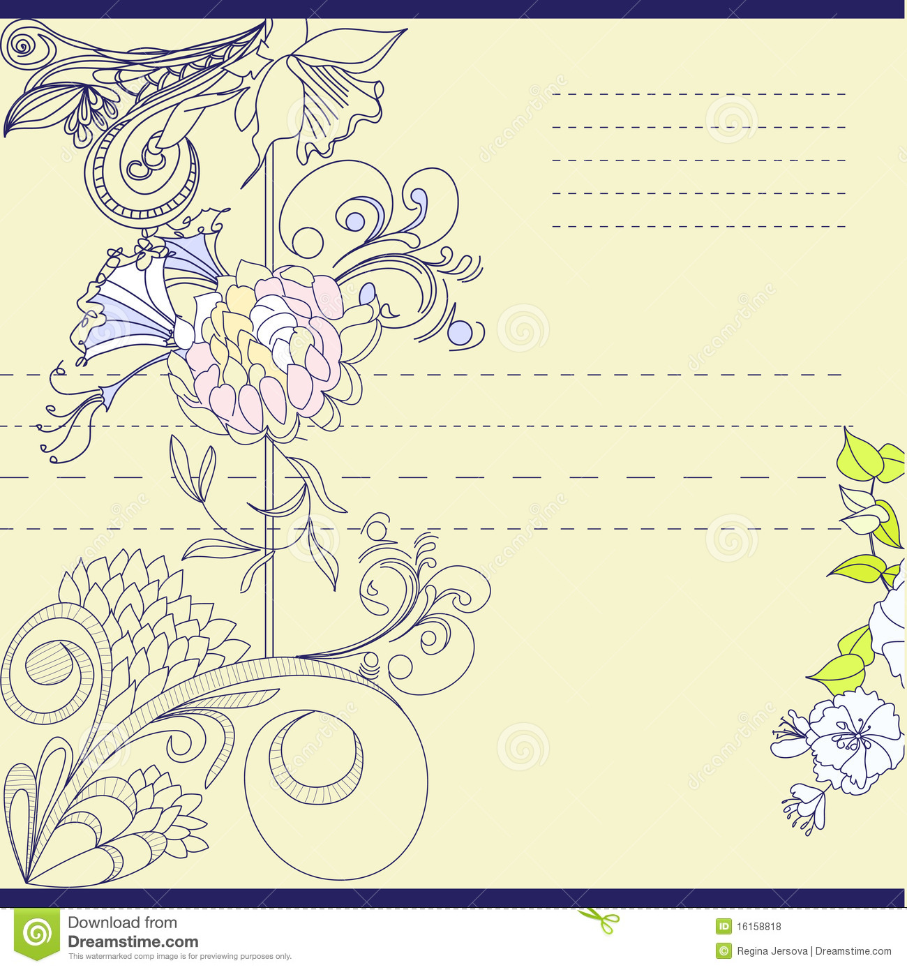 Template Greeting Card Royalty Free Stock Image: Template For Note Paper Royalty Free Stock Photos