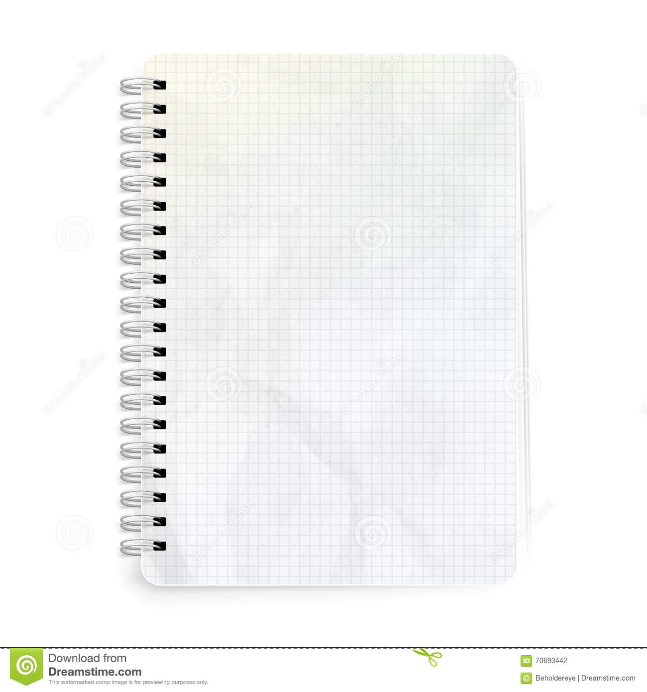 Template Notepad Design Eps 10 Stock Vector Illustration Of Clean
