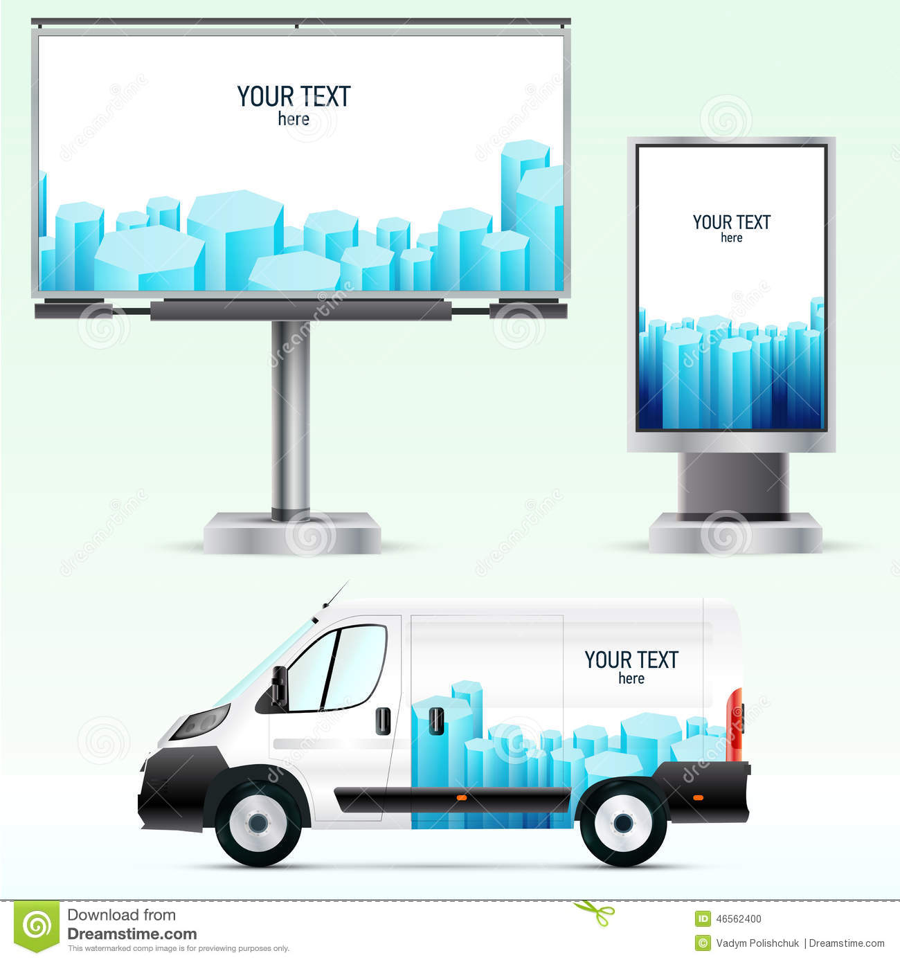 template outdoor advertising or corporate identity on the car template outdoor advertising or corporate identity on the car billboard and citylight