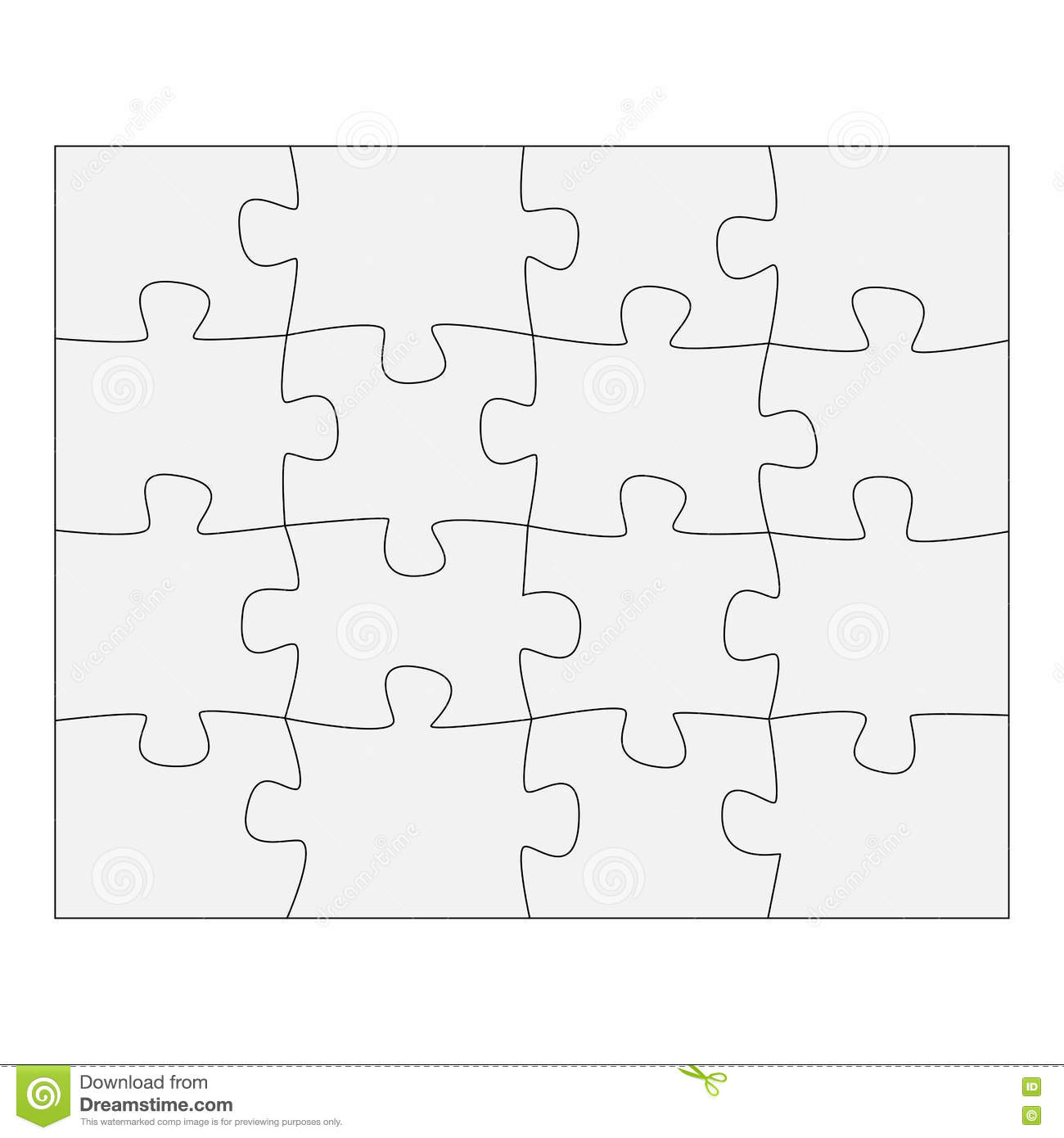 Template Paper For Thinking Puzzles Games. Business Concept ...