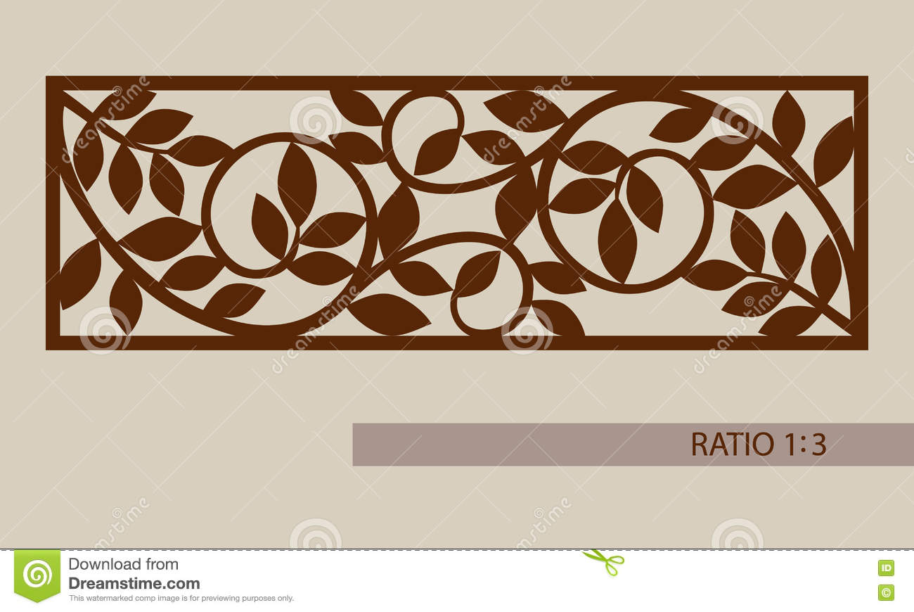 The Template Pattern For Laser Cutting Decorative Panel Stock Vector ... for Laser Cut Designs Paper  287fsj