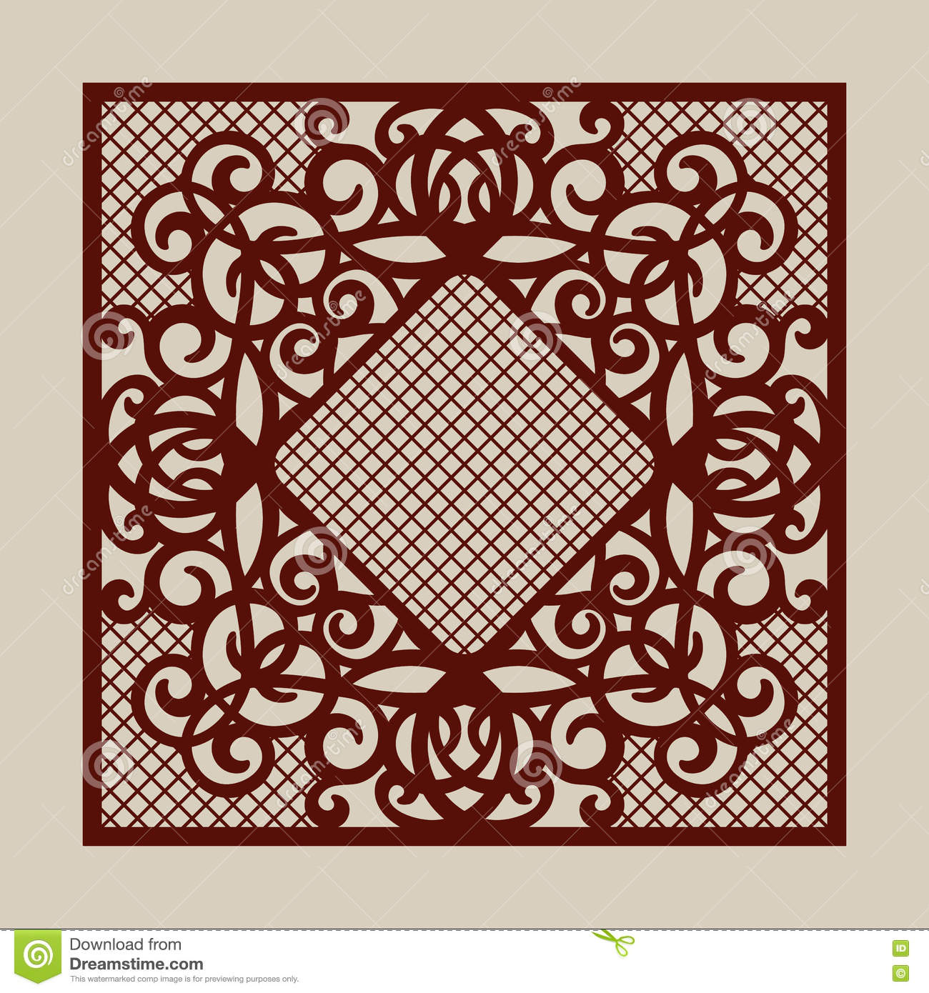 The template pattern for laser cutting decorative panel for Laser engraver templates