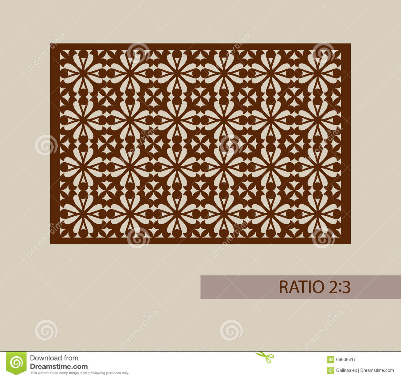 Template for laser cutting decorative panel vector for Laser engraver templates