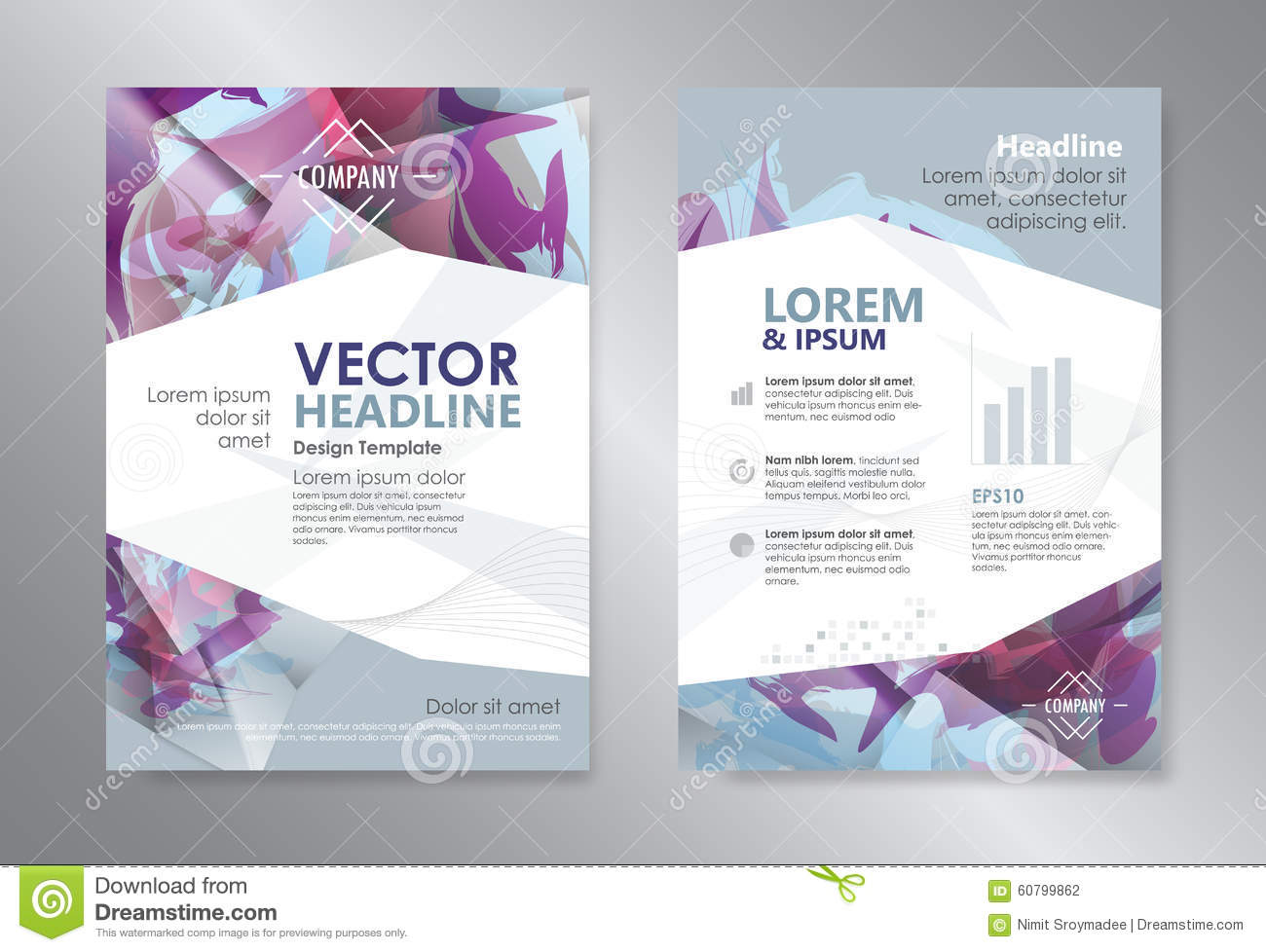 booklet brochure template - template polygon abstract design magazine brochure flyer