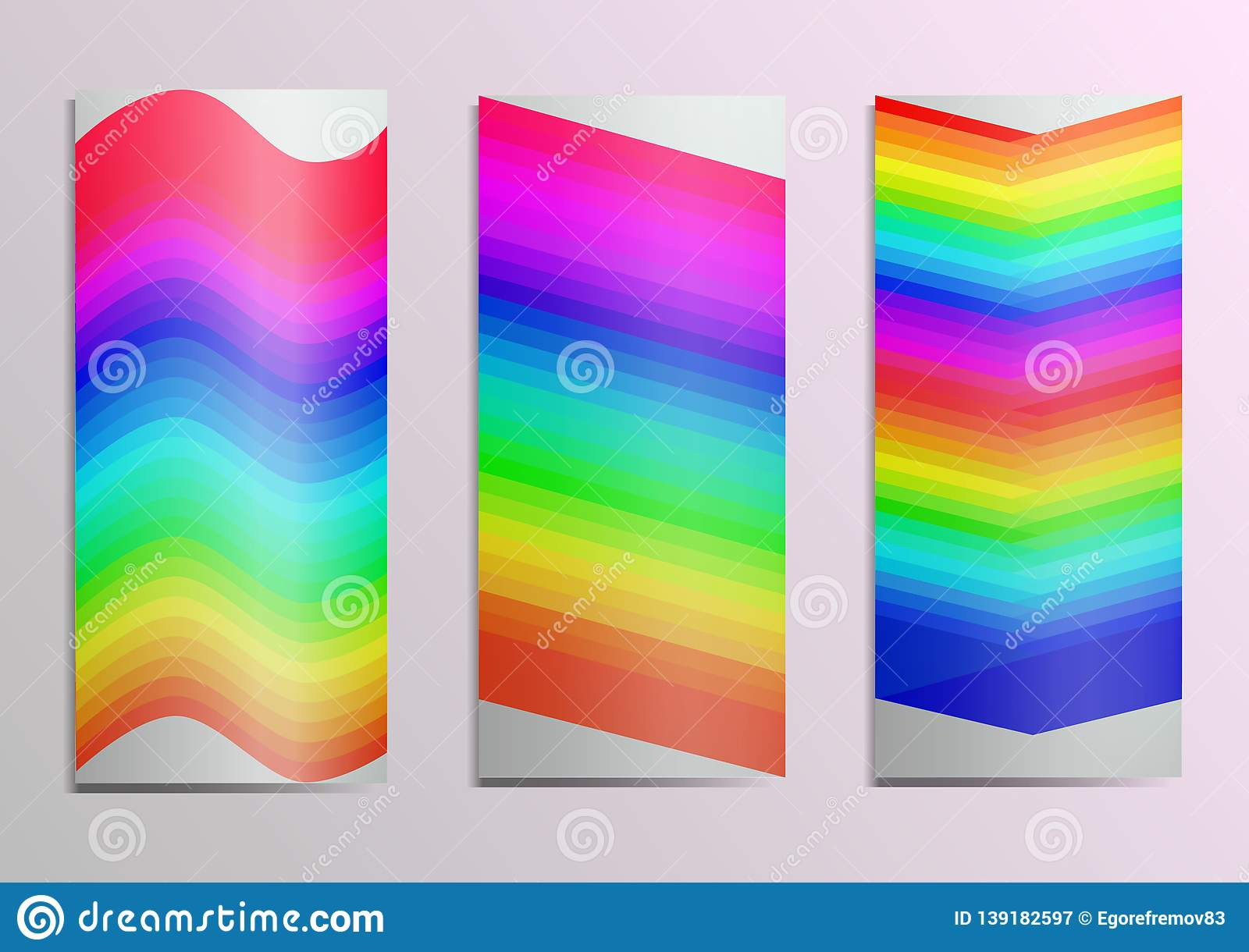 Template For Postcards Rainbow On The Cover Gracefully Emphasizes