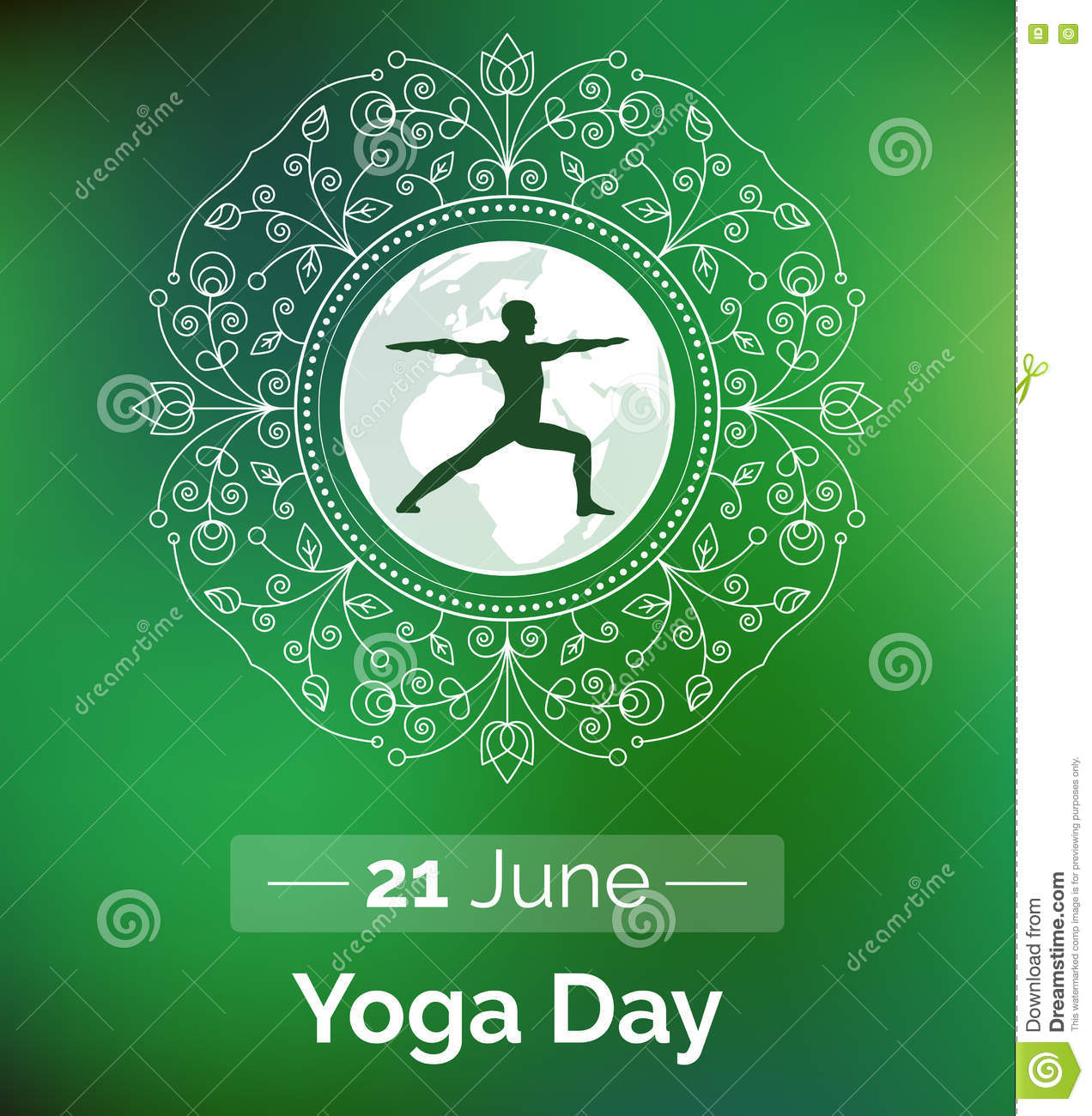 Template Of Poster For International Yoga Day Stock Vector Illustration Of Event Logo 72410052