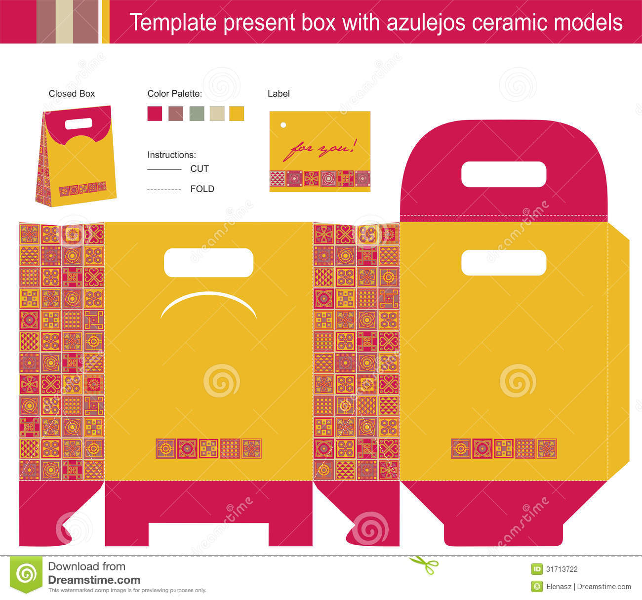 template present box stock photography image  template present box