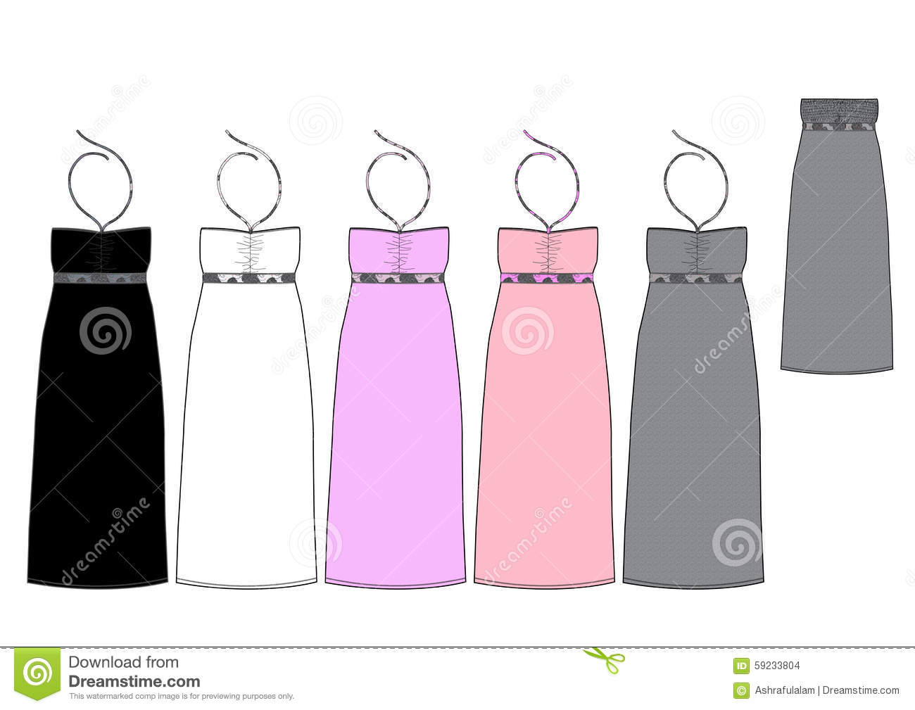 Template for a maxi dress