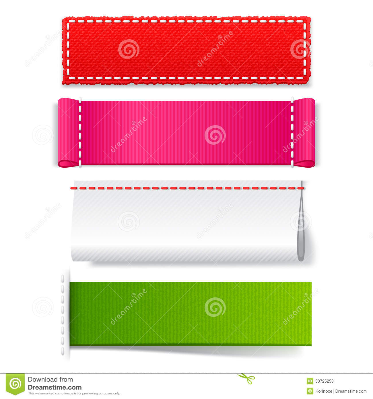 template realistic fabric labels stock vector image With fabric label design