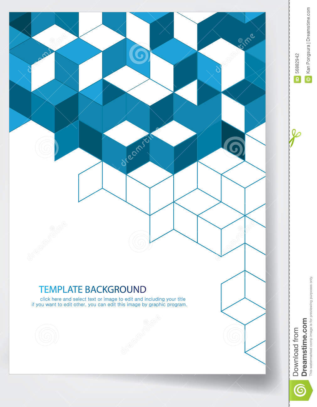 Template Report Cover Design  Cover Template