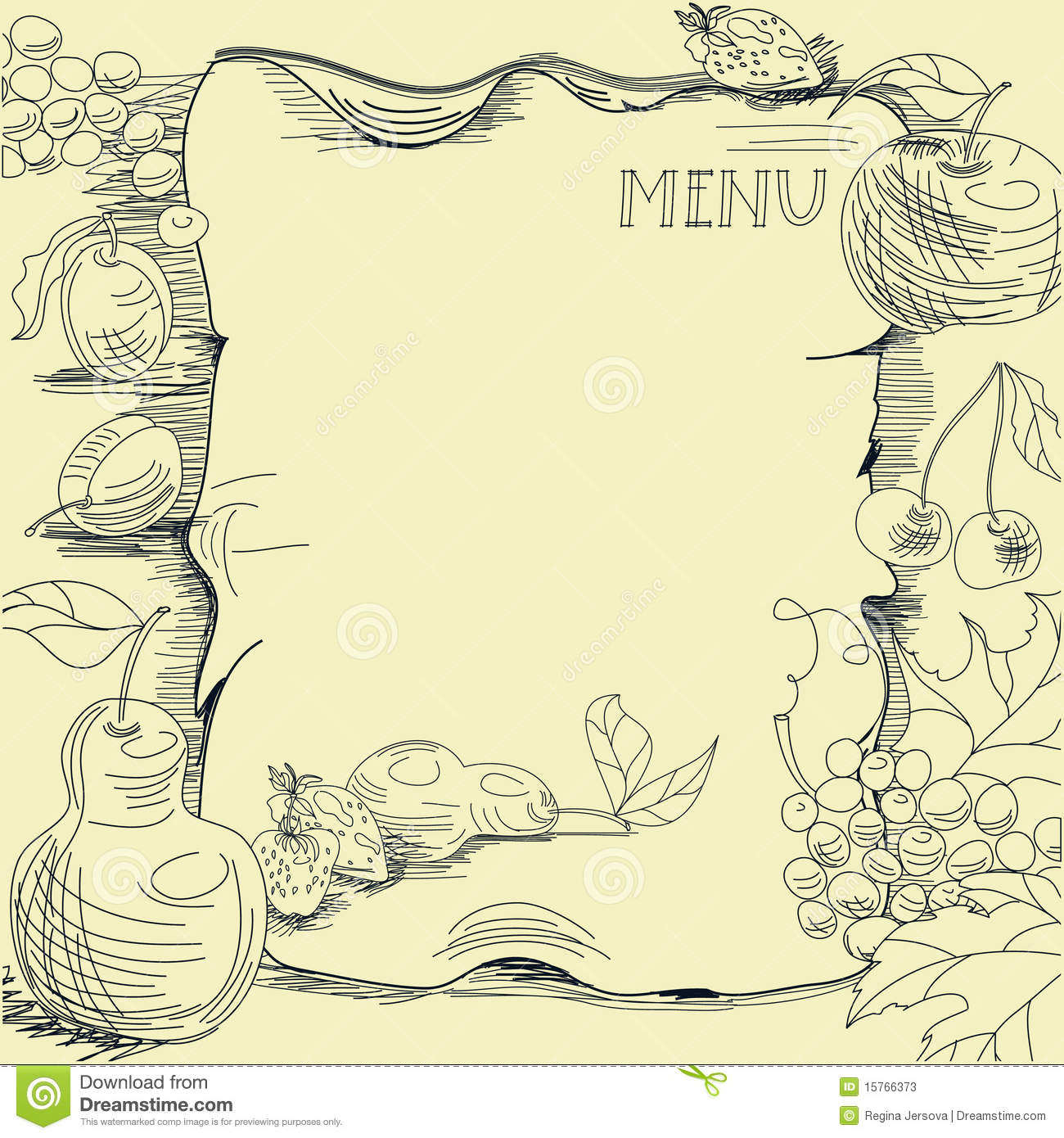 restaurant menu templates for mac - template for restaurant menu stock vector illustration