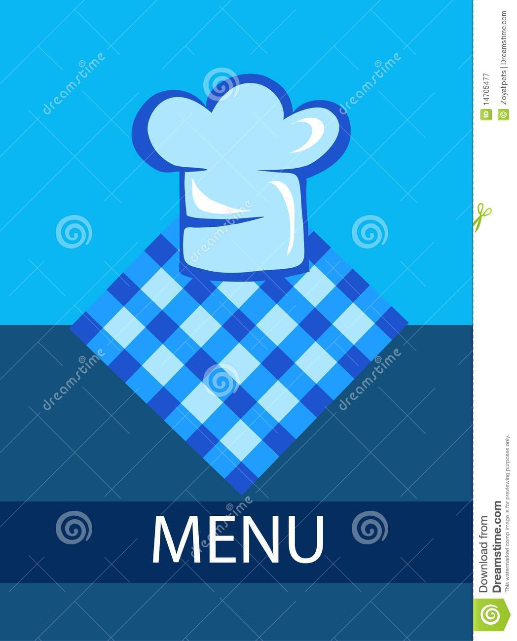 template for restaurant menu with chef hat royalty free stock photography image 14705477. Black Bedroom Furniture Sets. Home Design Ideas