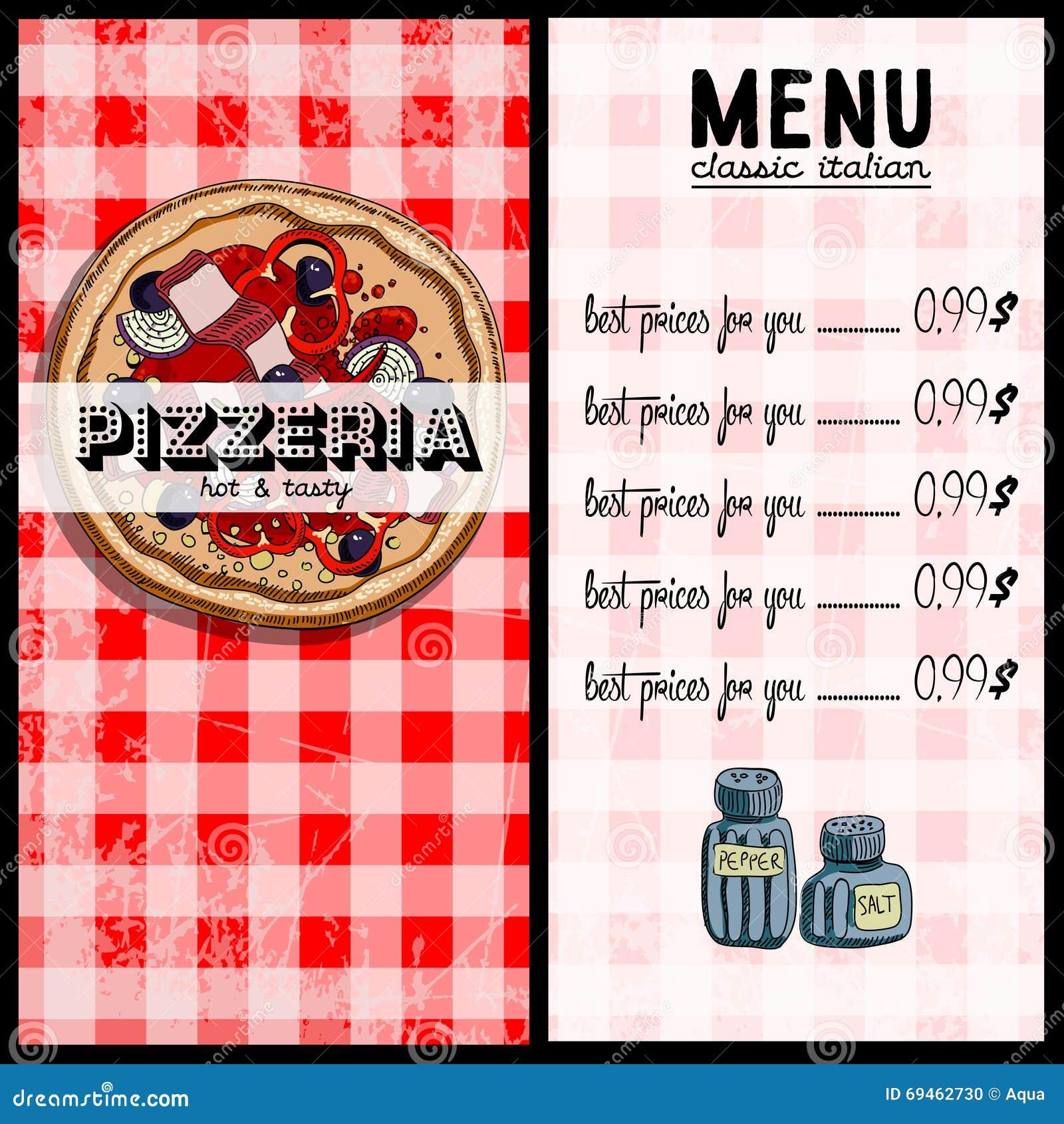 Sample Pizza Menu Templates
