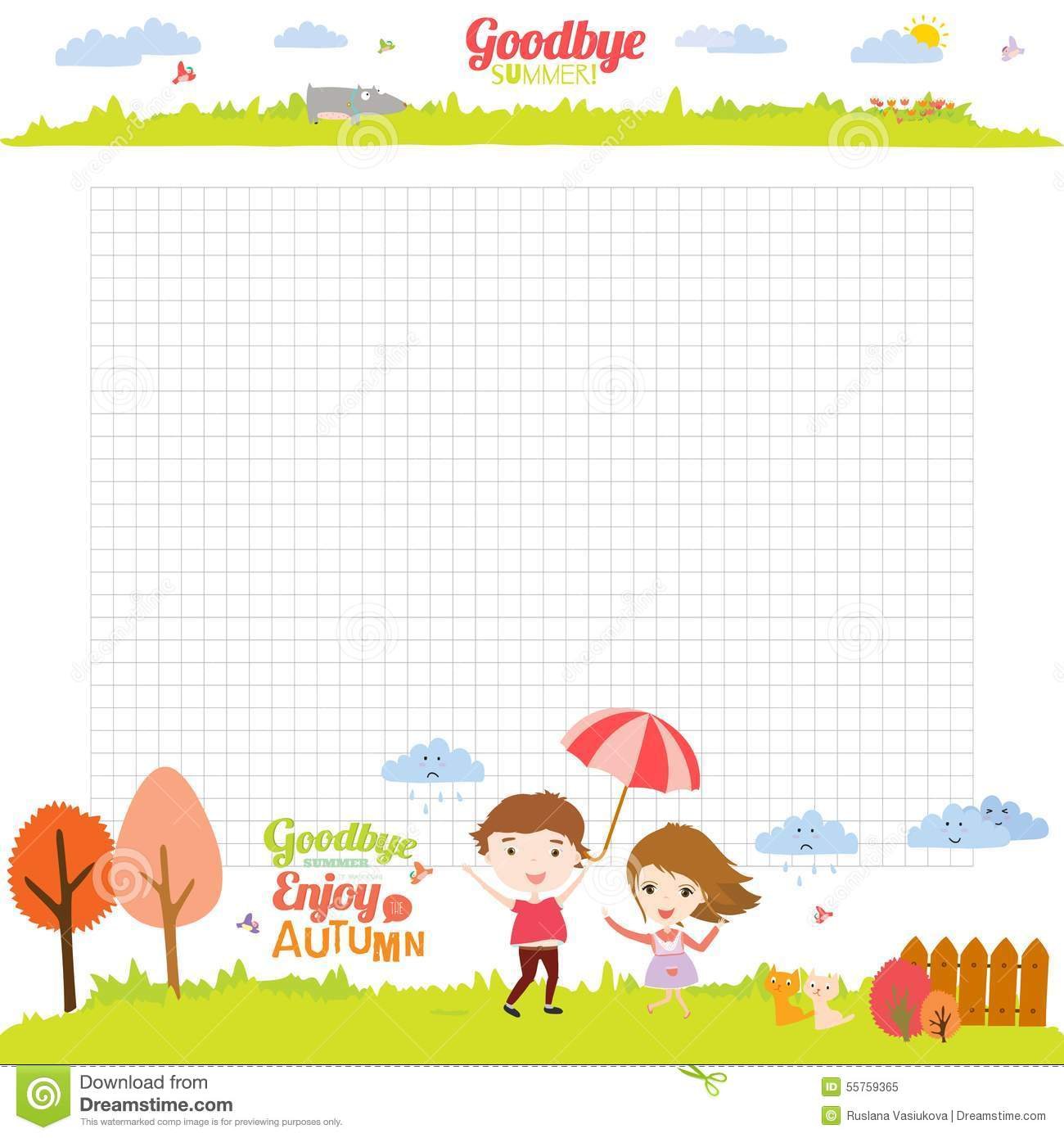 Free School Notebook Cover Vector ~ Template for school notebook diary and organizers stock