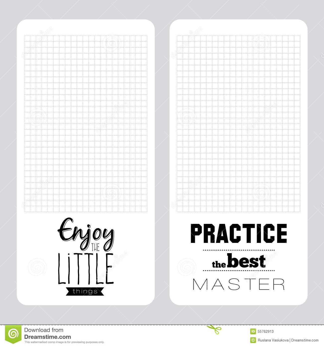 Template for school notebook diary and organizers stock vector vector design elements for notebook diary organizer and other school template design stylish typographic note with unusual inspirational and motivational maxwellsz