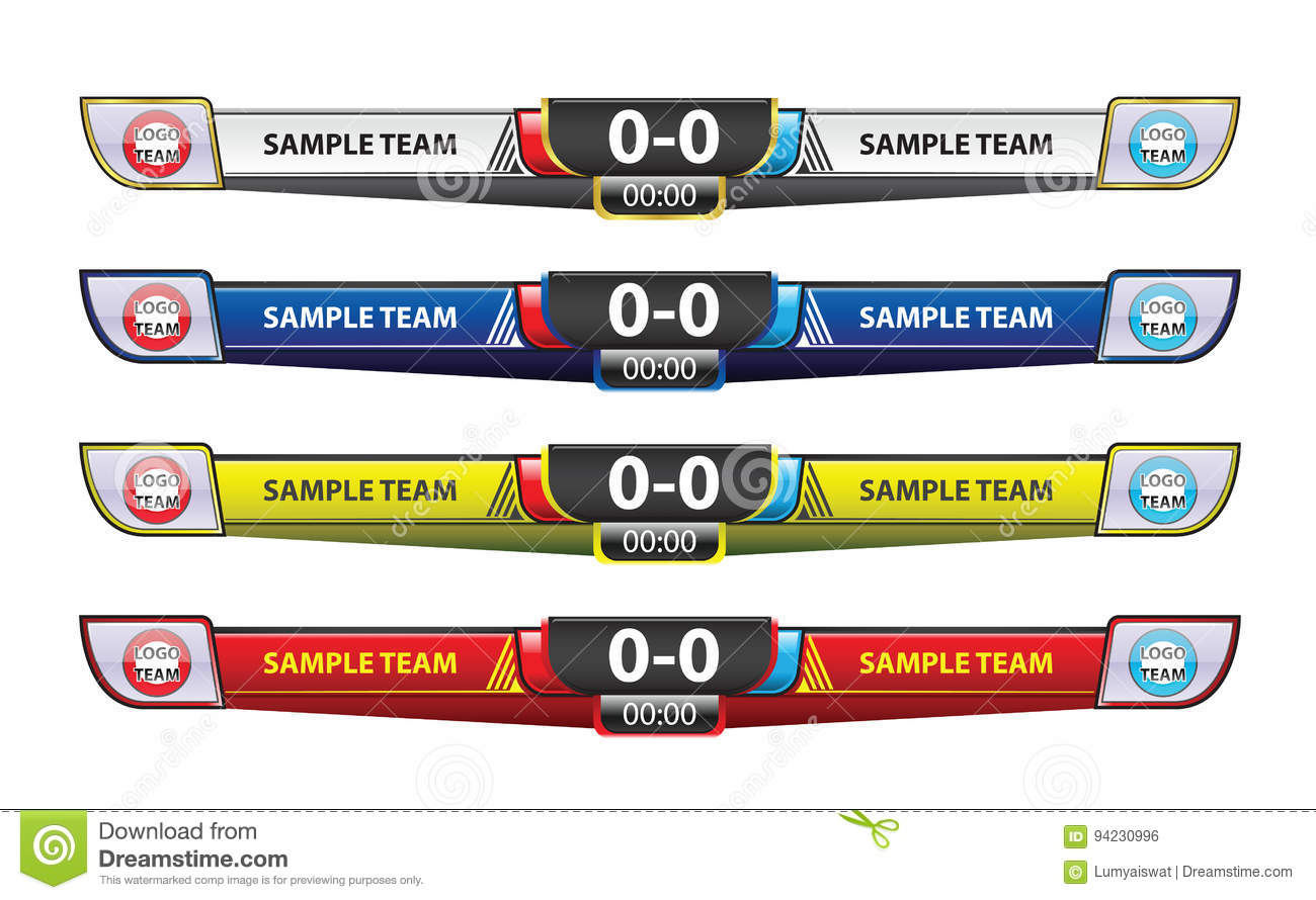 Template Scoreboard Design Elements For Sport Vector Image – Scoreboard Sample