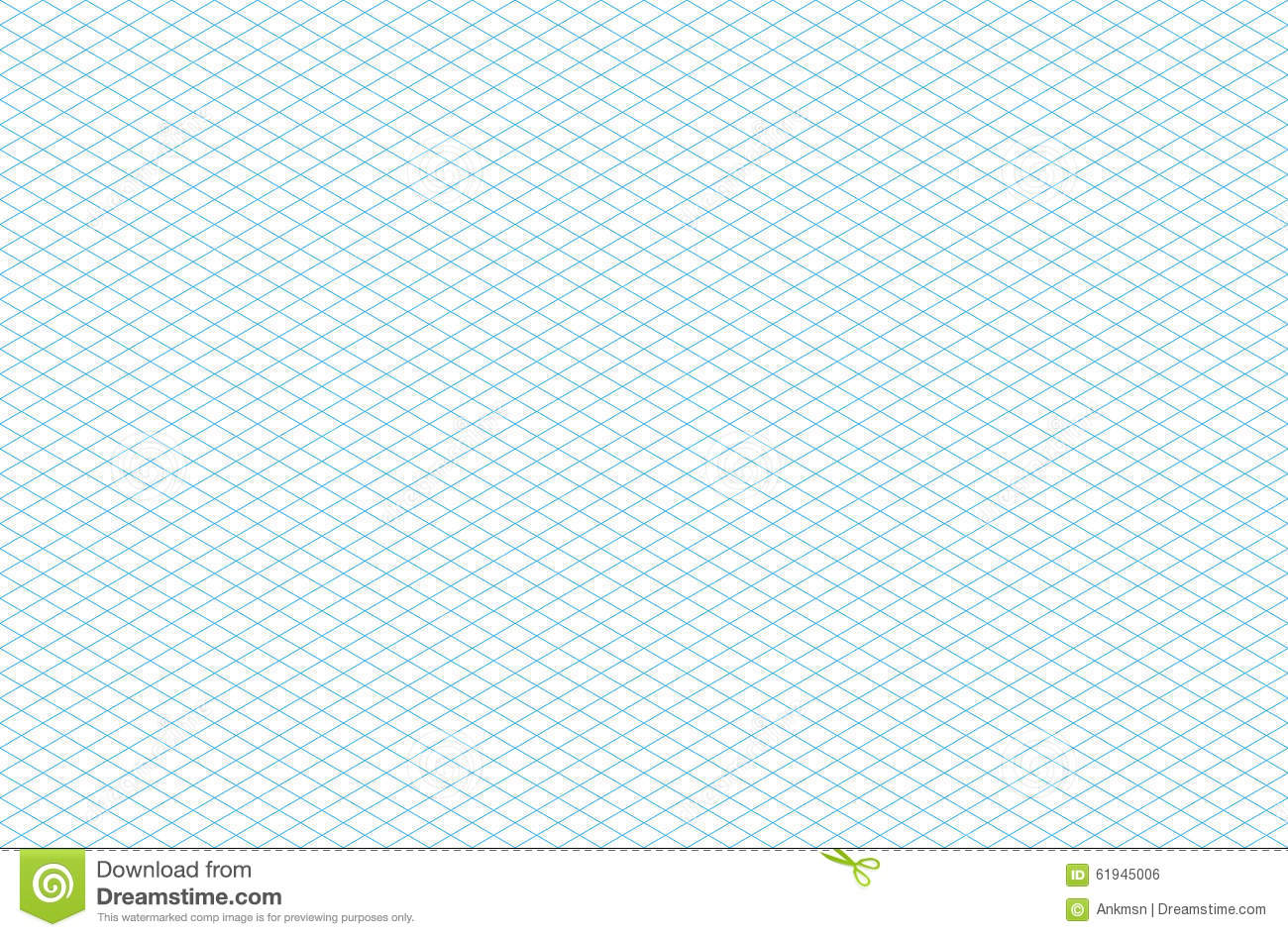Template Seamless Isometric Grid Pattern Stock Vector