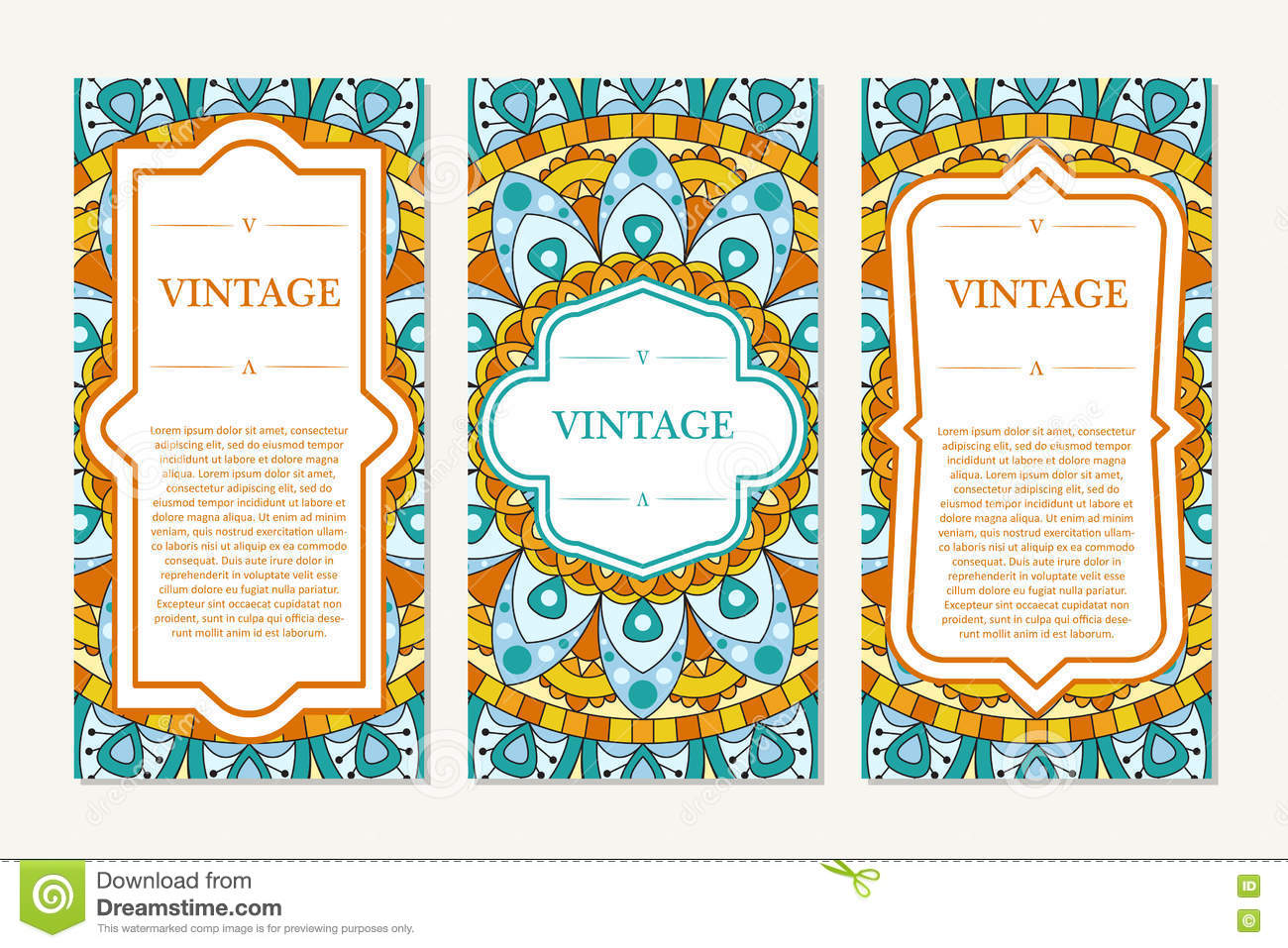 Template set of cards ornamental borders and patterned background template set of cards ornamental borders and patterned background mandala frame for greeting m4hsunfo