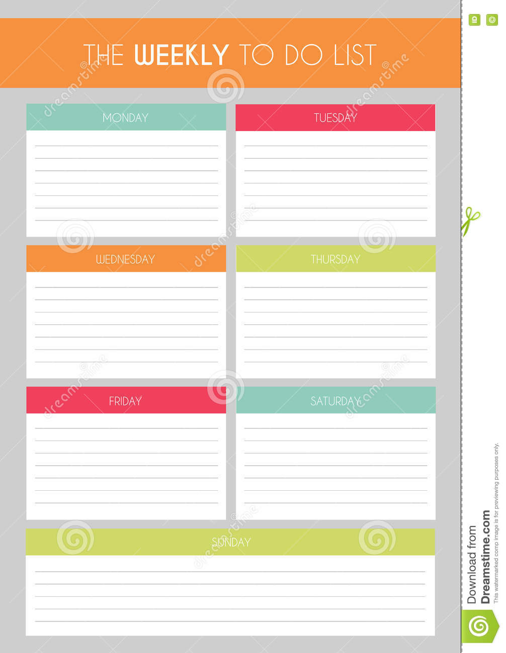 Template Simple Colorful The Weekly To Do List – Simple to Do List Template