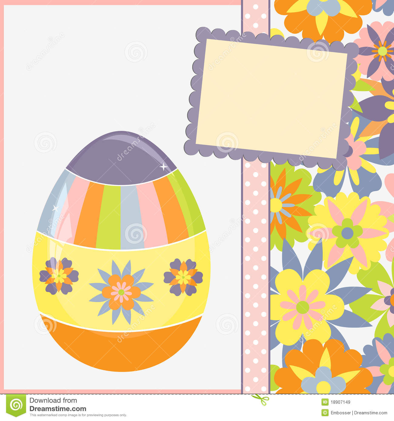 Template For Spring Easter Postcard Royalty Free Images – Sample Easter Postcard Template