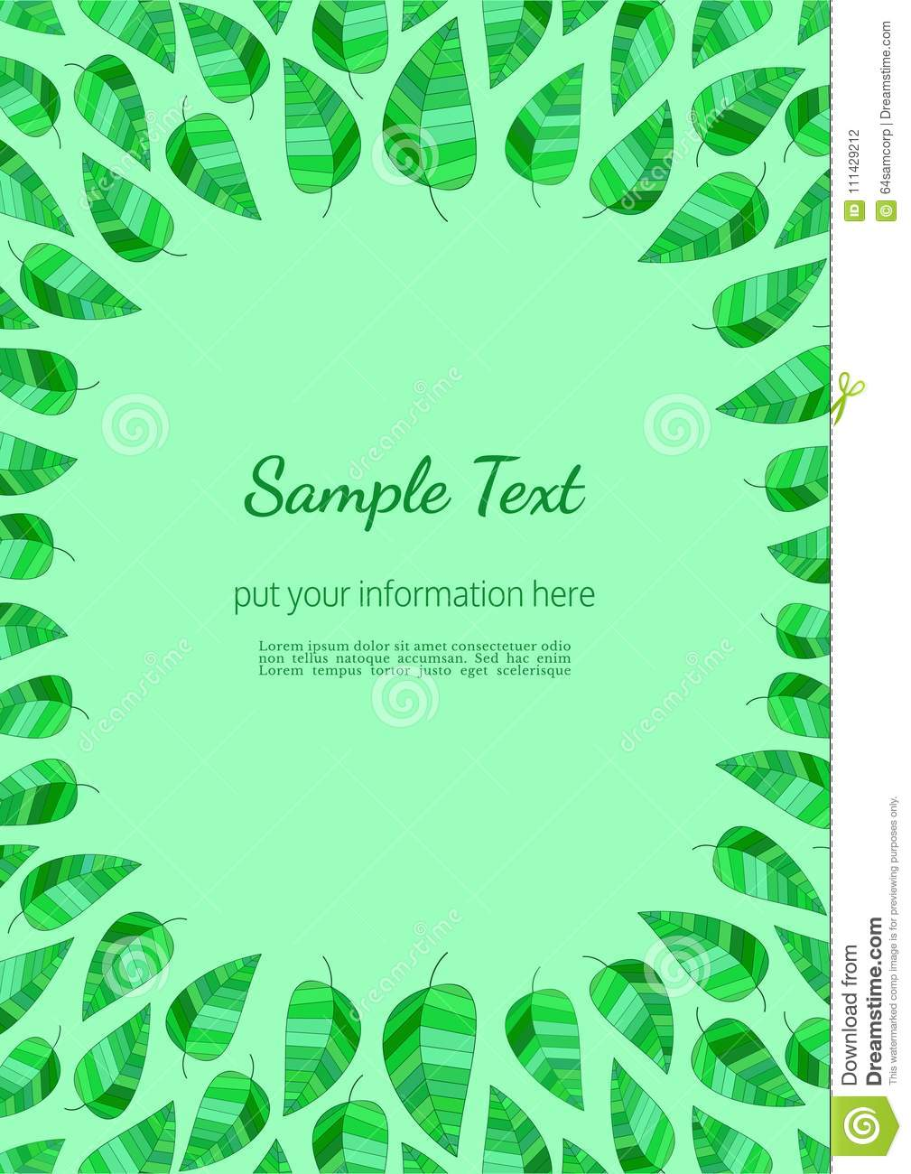 Template Spring Flyer Stock Vector Illustration Of Blank 111429212