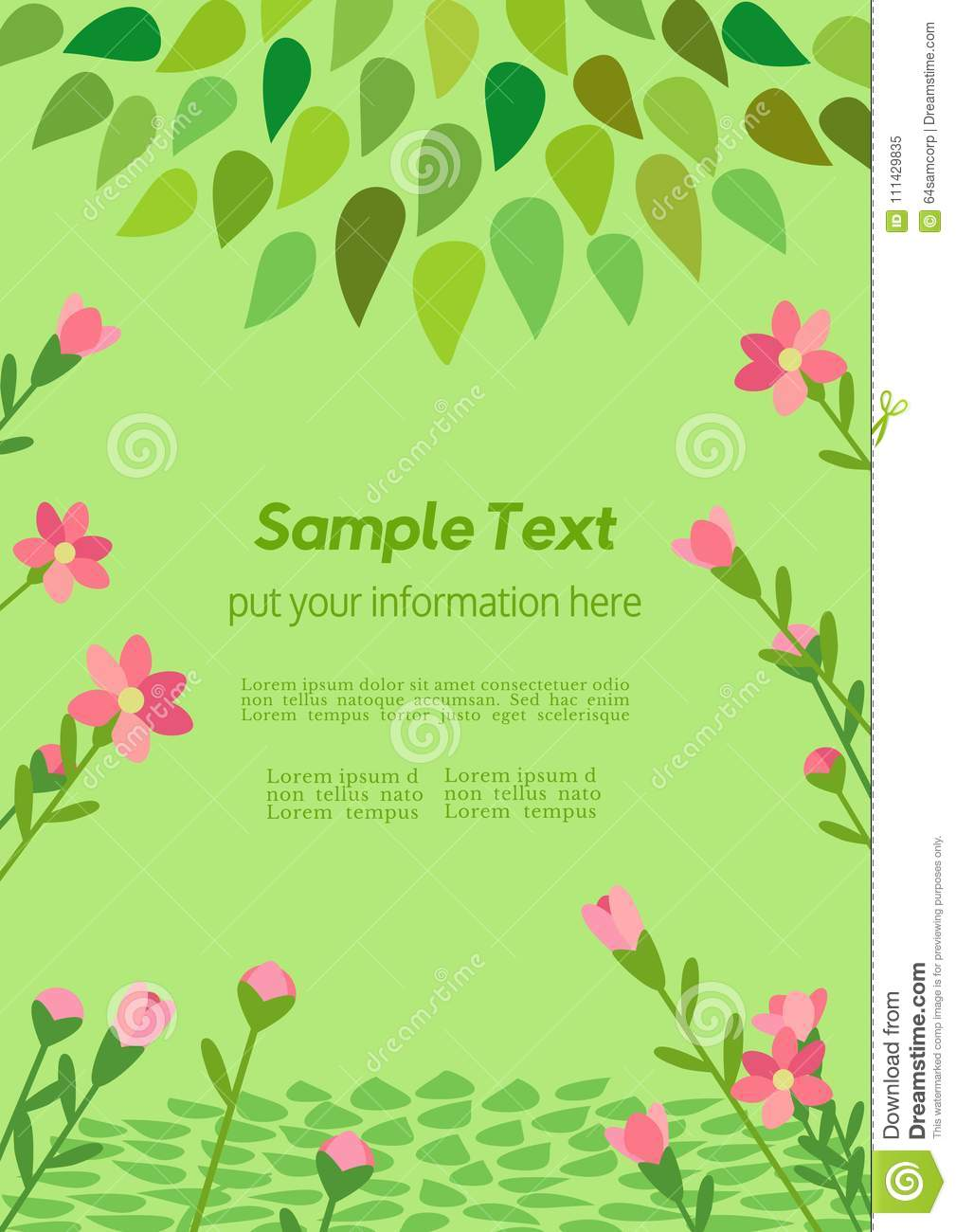Template Spring Flyer Stock Vector Illustration Of Card 111429835