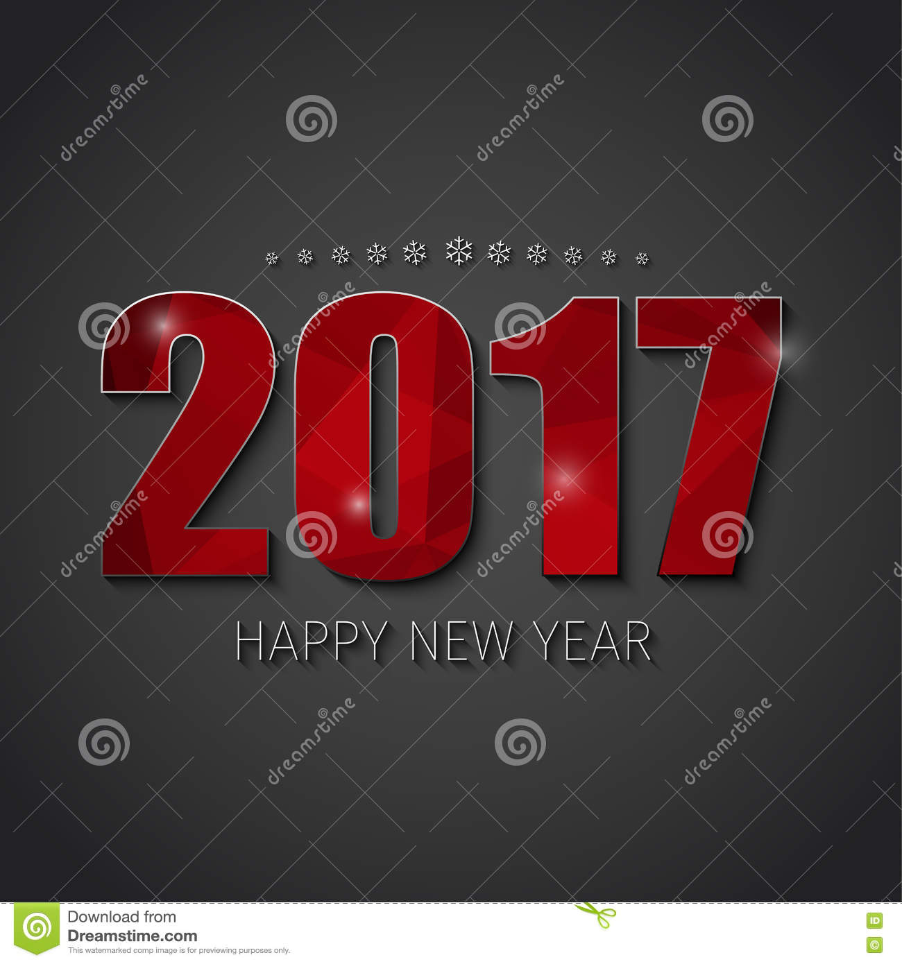 template square banner background happy new year 2017