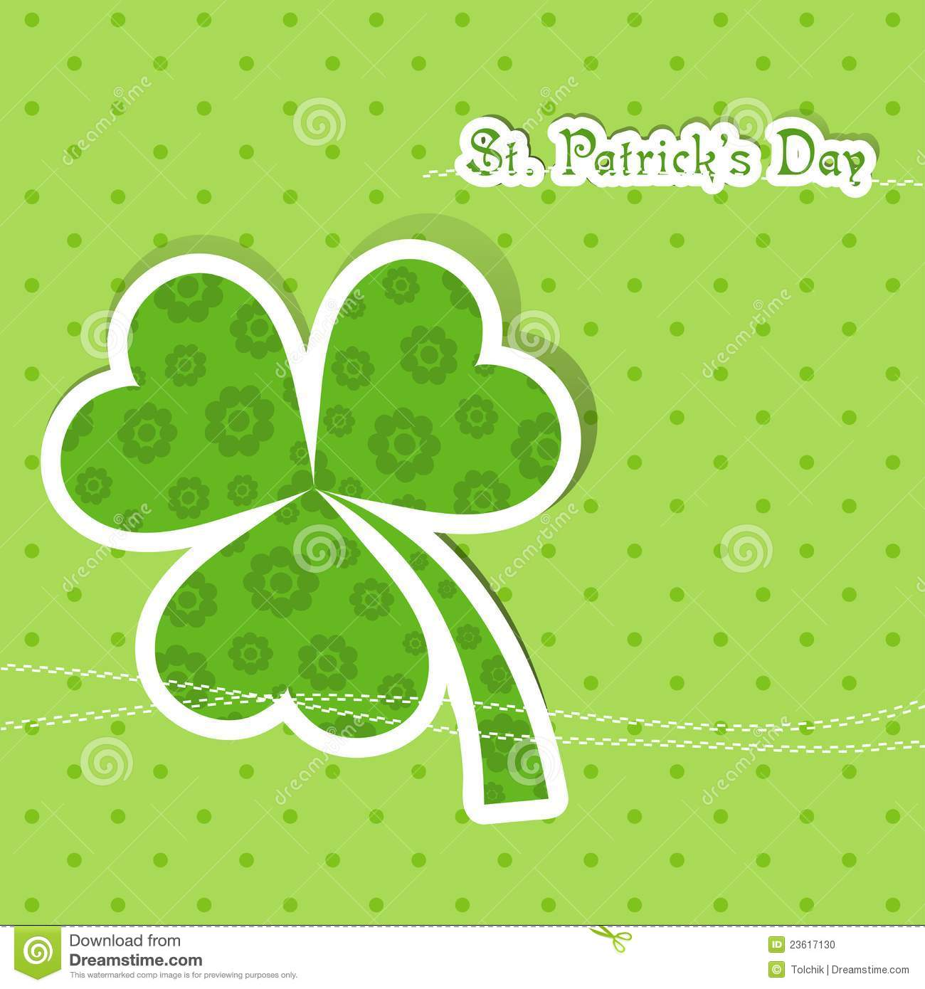 Template St Patricks Day Greeting Card Stock Vector Illustration