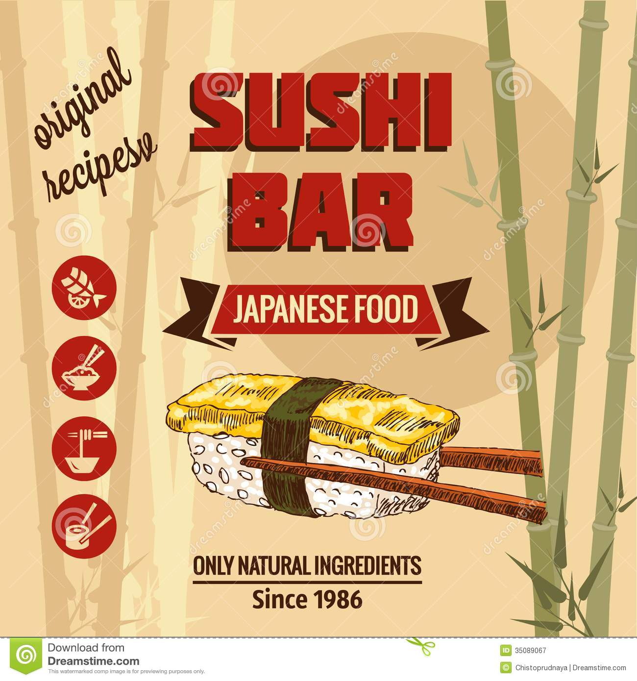 Template Of Sushi Menu Royalty Free Stock Photography - Image ...