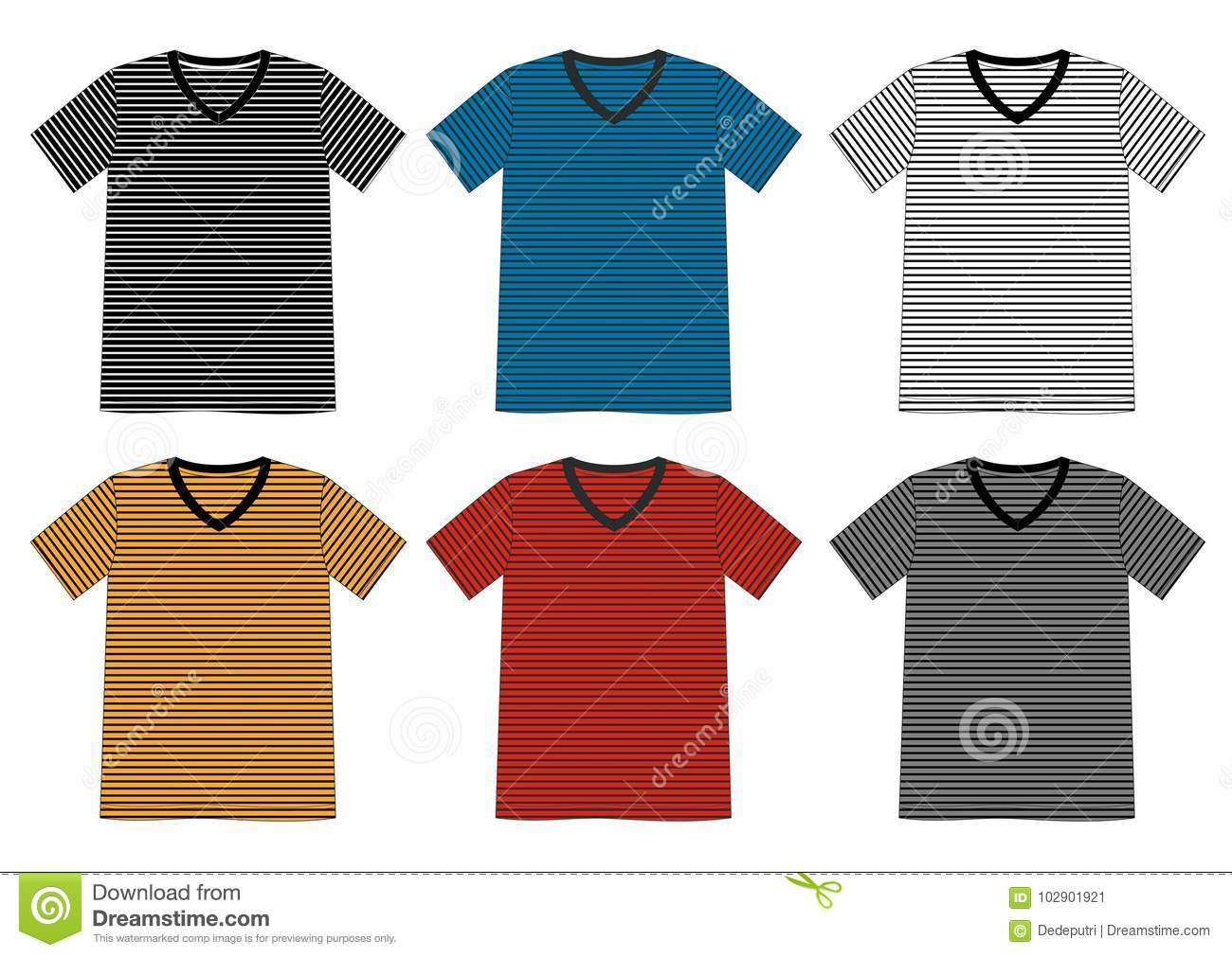 b3b57c59 Vector template t shirt for men with color black white blue yellow and red