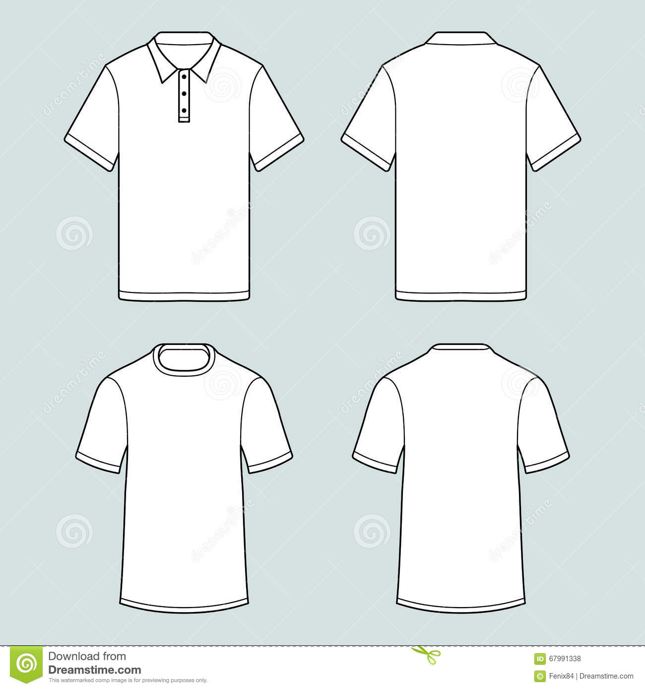 Men 39 s white short sleeve polo shirt vector illustration for Polo shirt design template