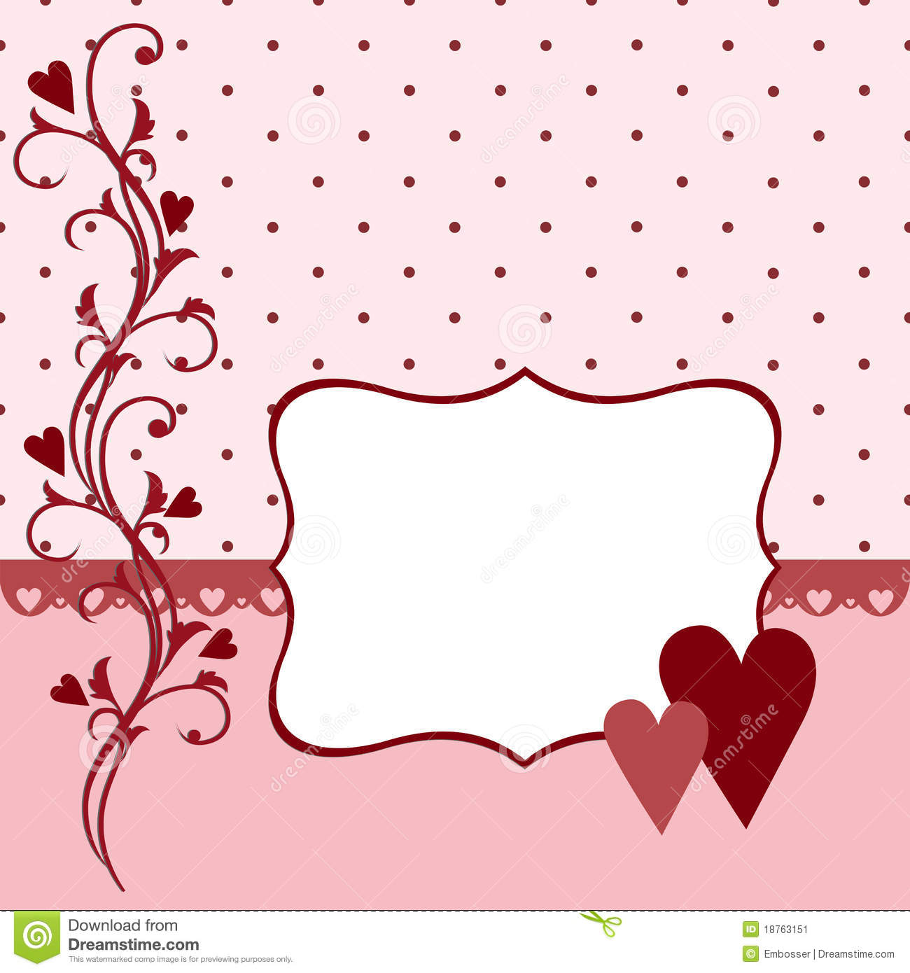 Template For Valentine Or Wedding Greetings Card Stock Illustration