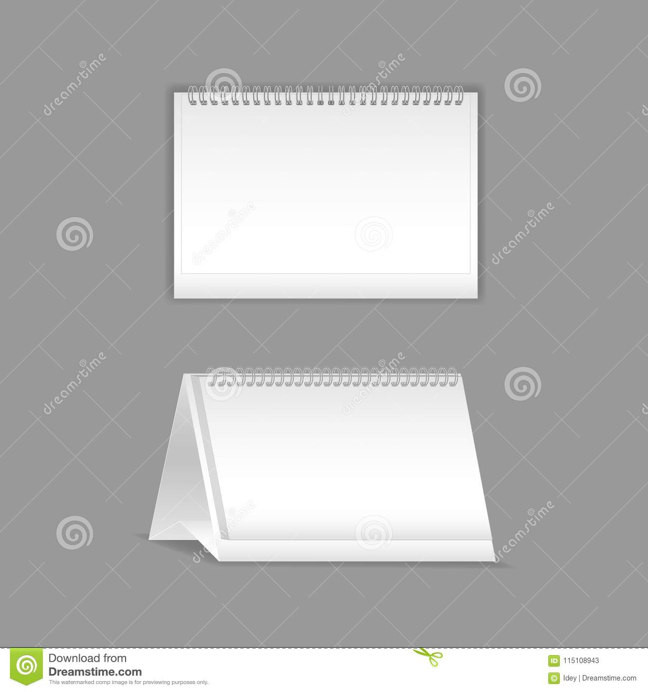 Template, Layout, Beautiful Realistic Notebook. Empty White ...
