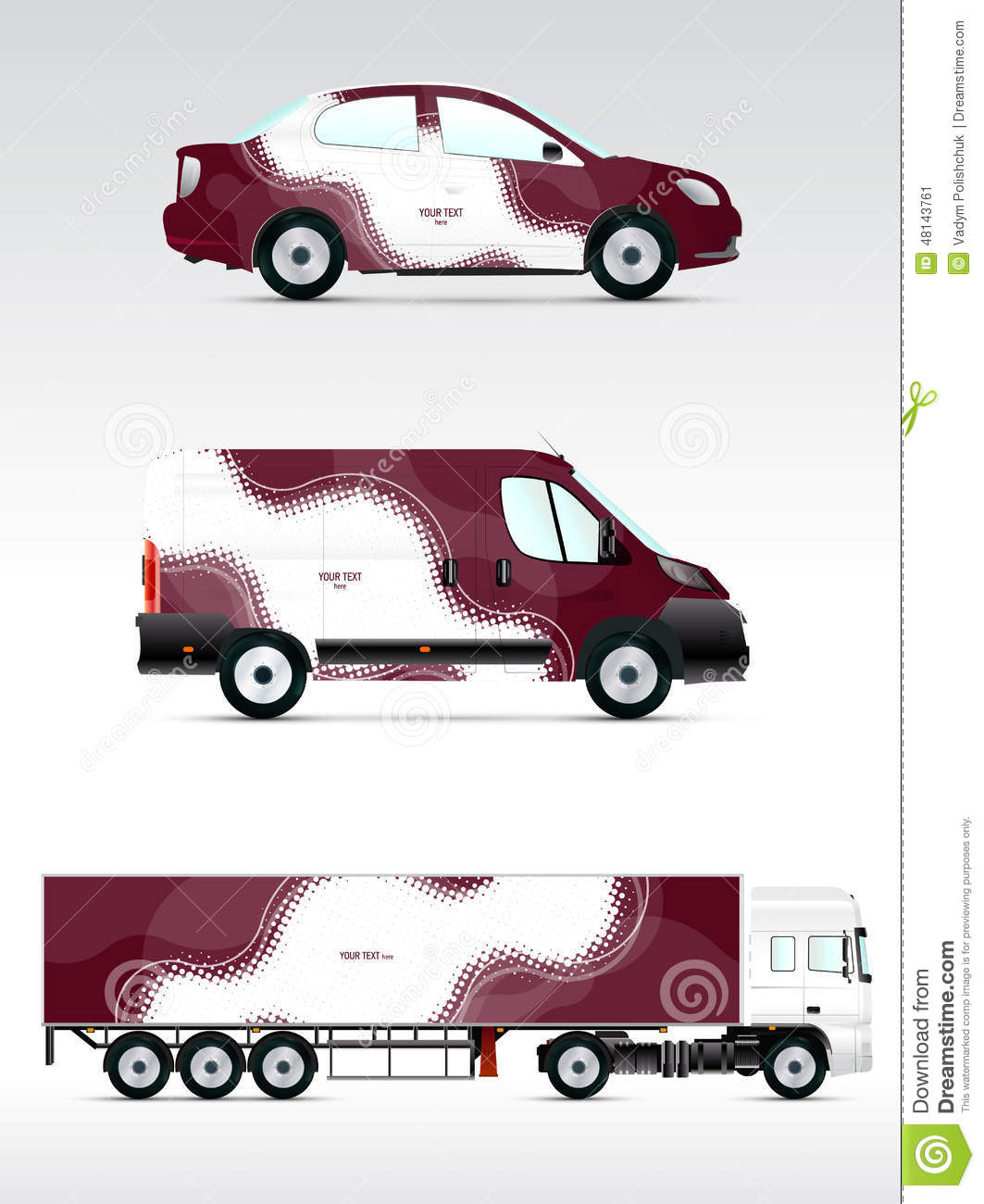Template Vehicle For Advertising Branding Or Corporate