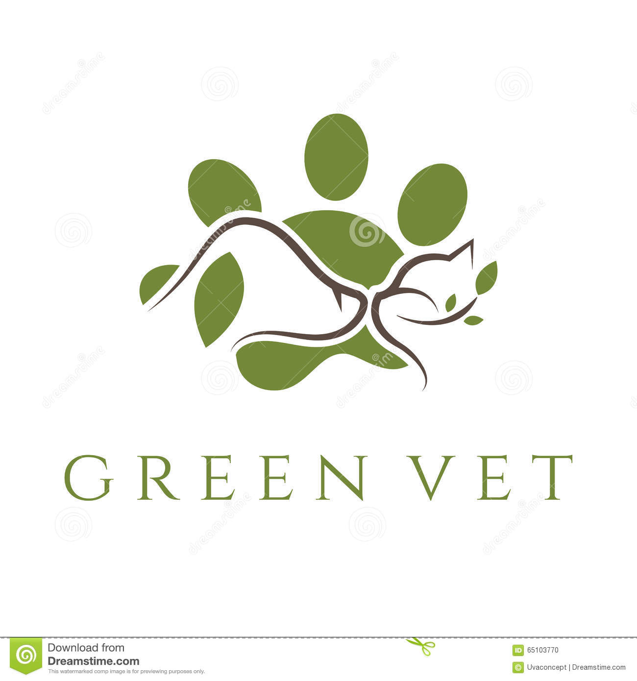 Template For Veterinary Clinic With Cat And Dog.Vector Stock Vector ...