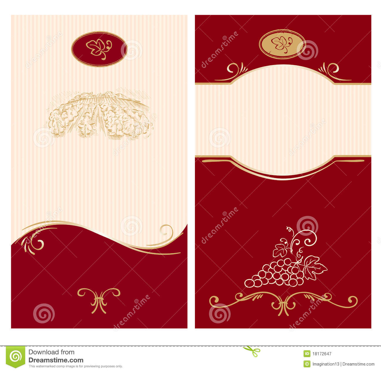 Template For Wine Labels Stock Vector Illustration Of Beverage