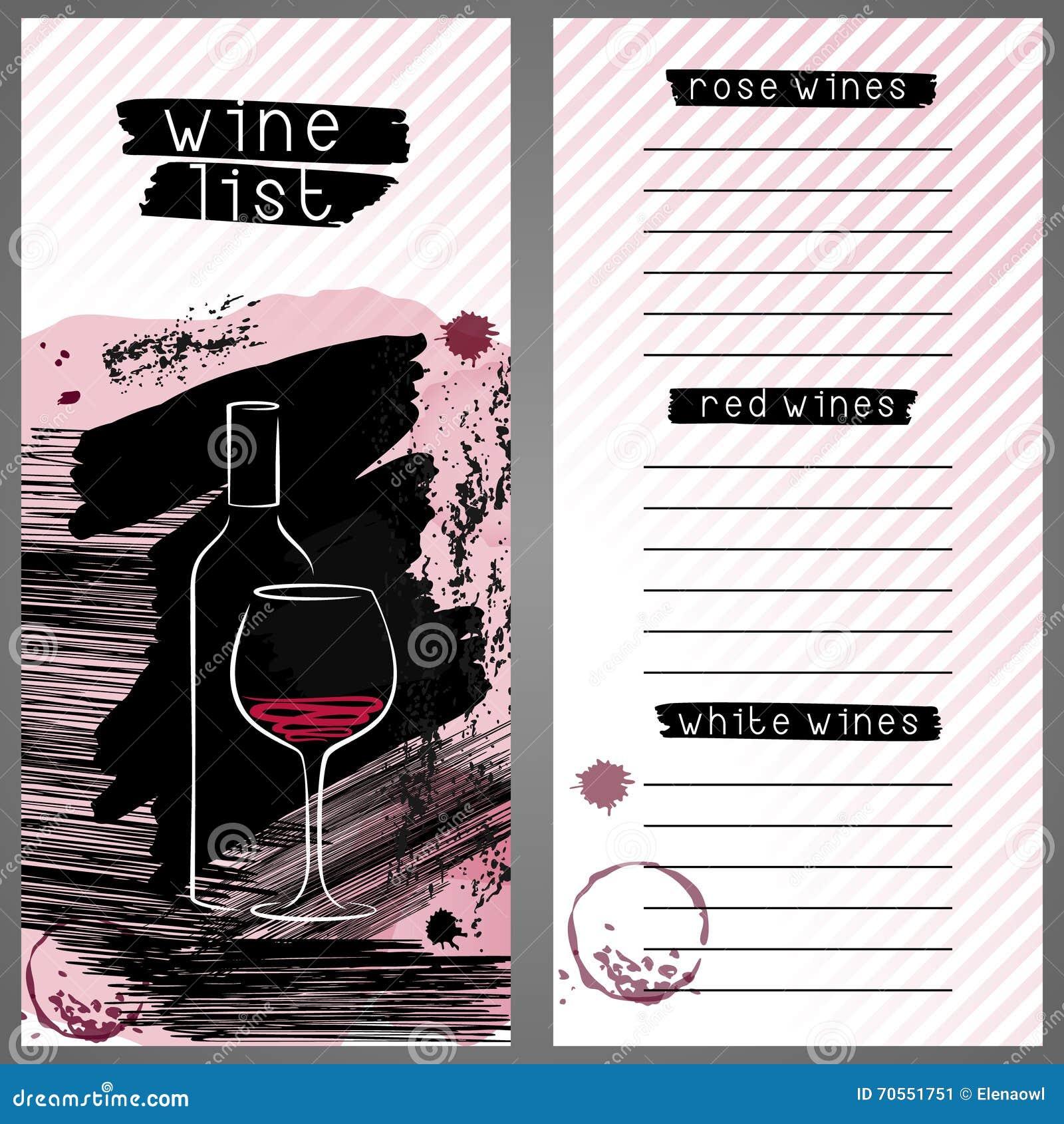 Wine Bar List Menu Royalty Free Images Image 21782929 – Free Wine List Template