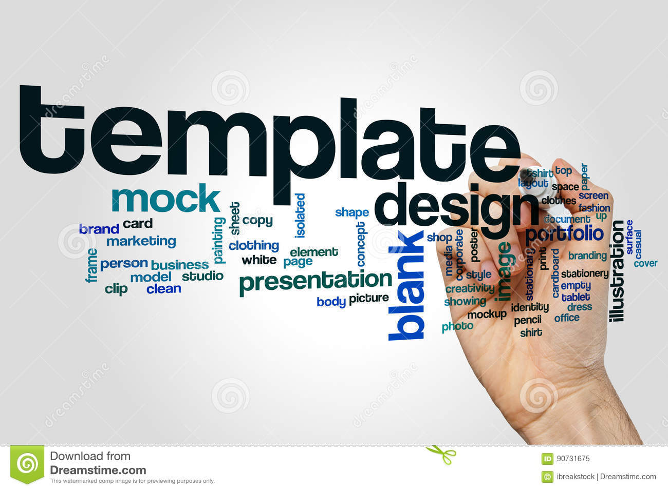 Template word cloud stock illustration illustration of design template word cloud maxwellsz